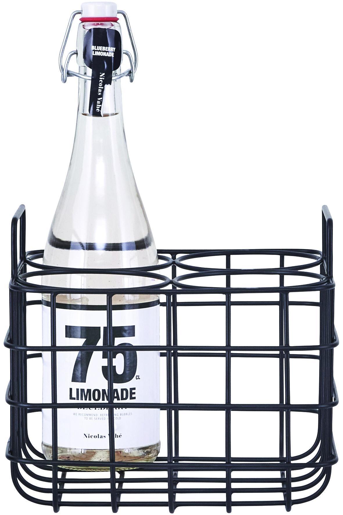 House Doctor Drátěný stojan na 4 lahve Black