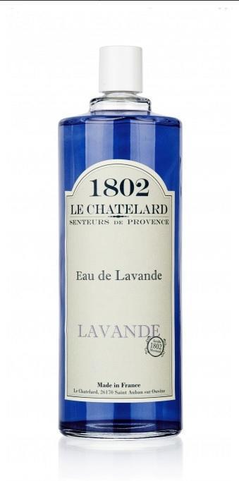 LE CHATELARD Levandulová voda 500 ml, fialová barva, sklo