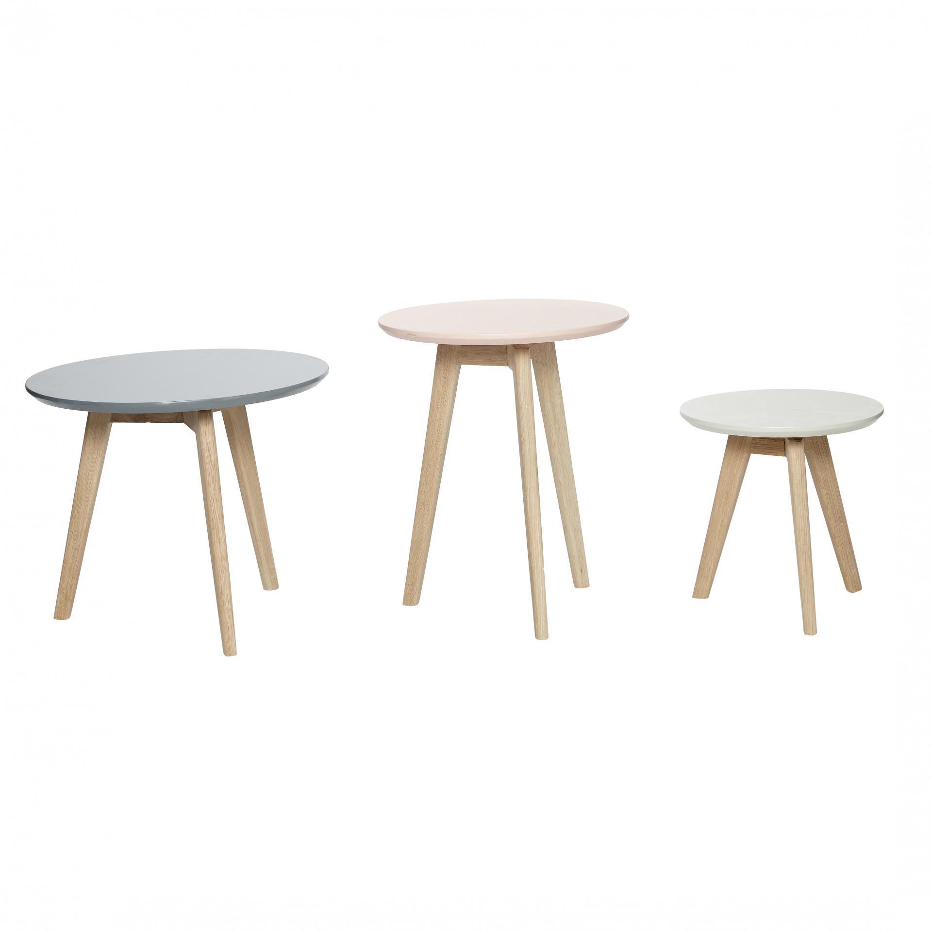 Hübsch Dřevěný stolek na třech nožkách Malý, multi barva, dřevo