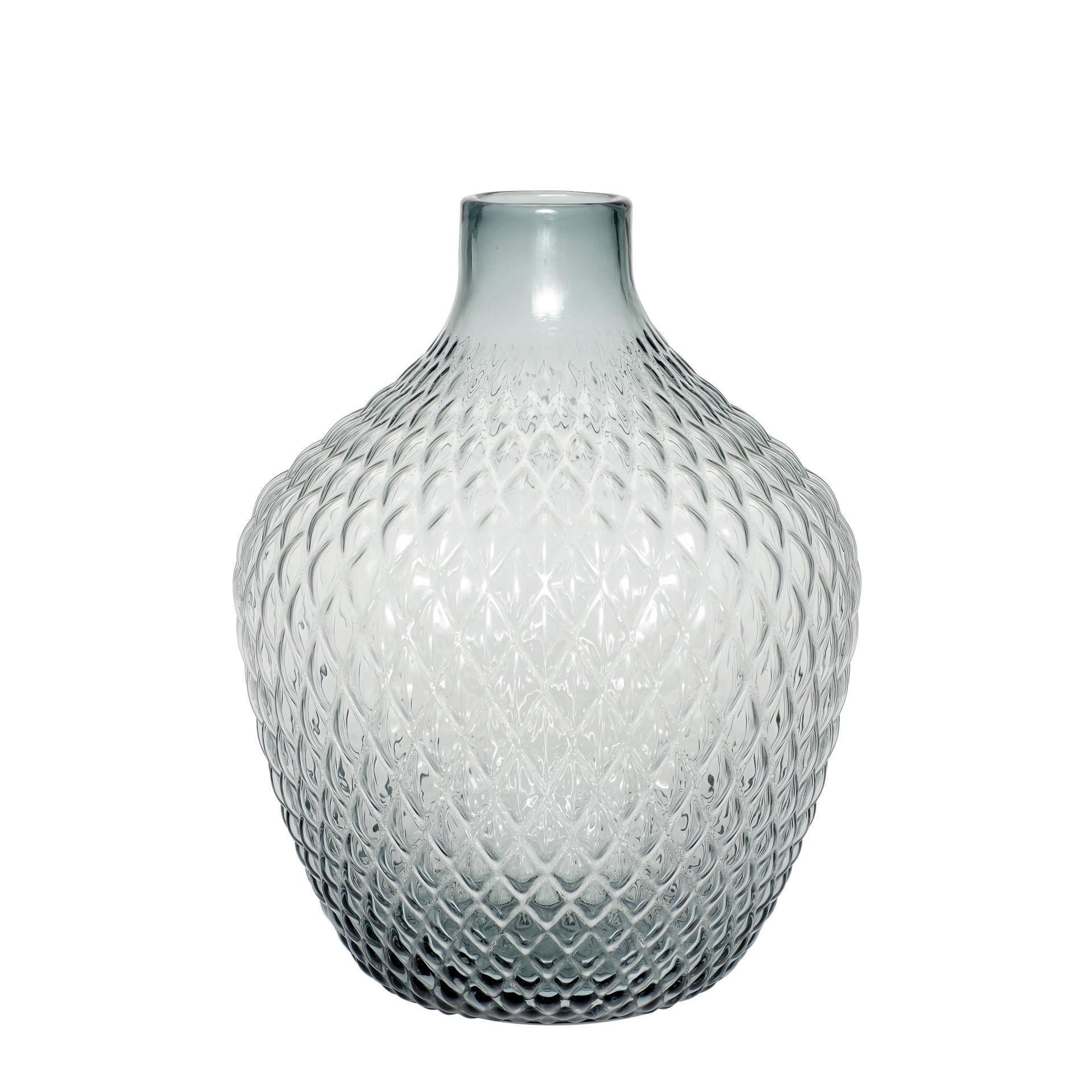 Hübsch Skleněná váza Large Blue