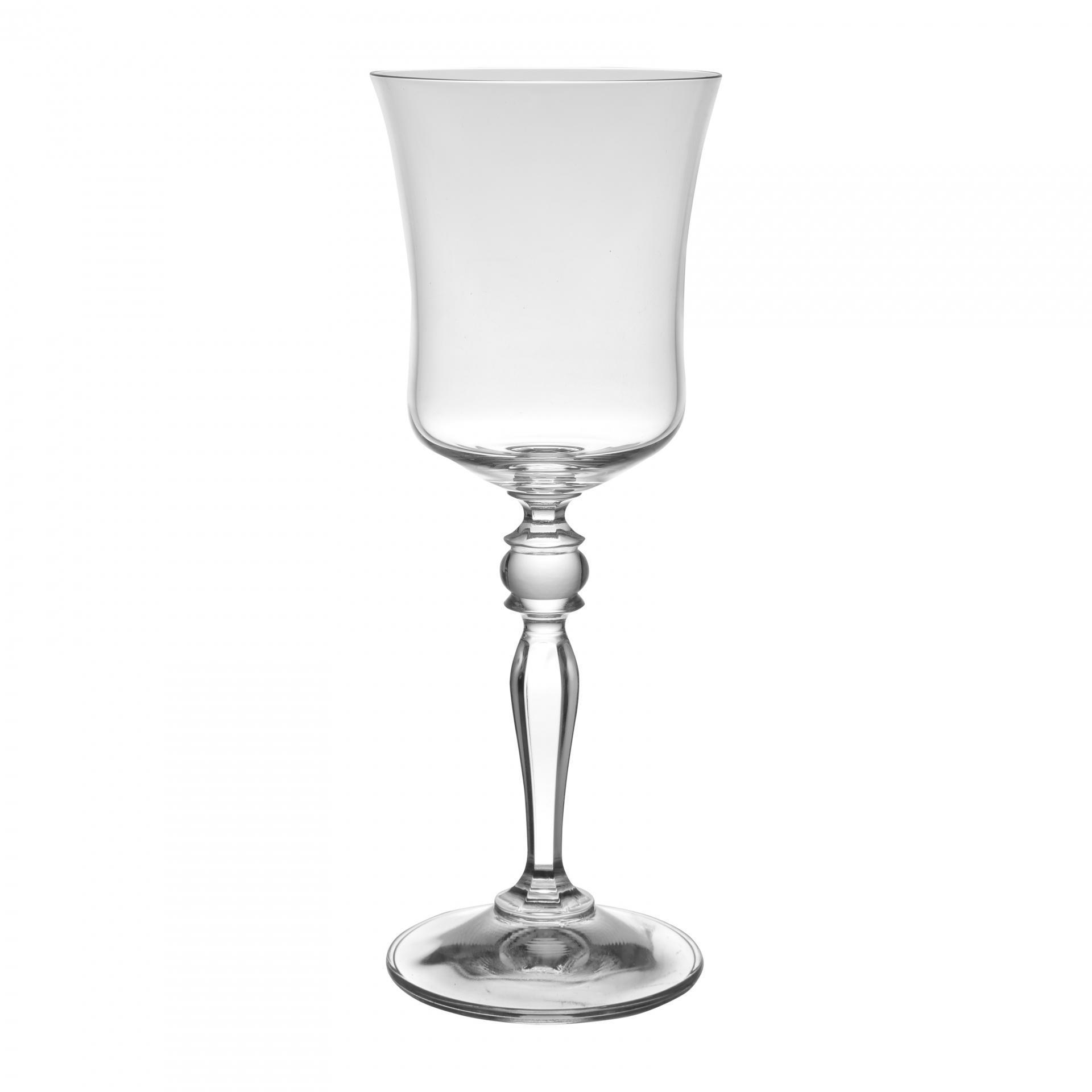 CÔTÉ TABLE Sklenička na víno Grace, čirá barva, sklo