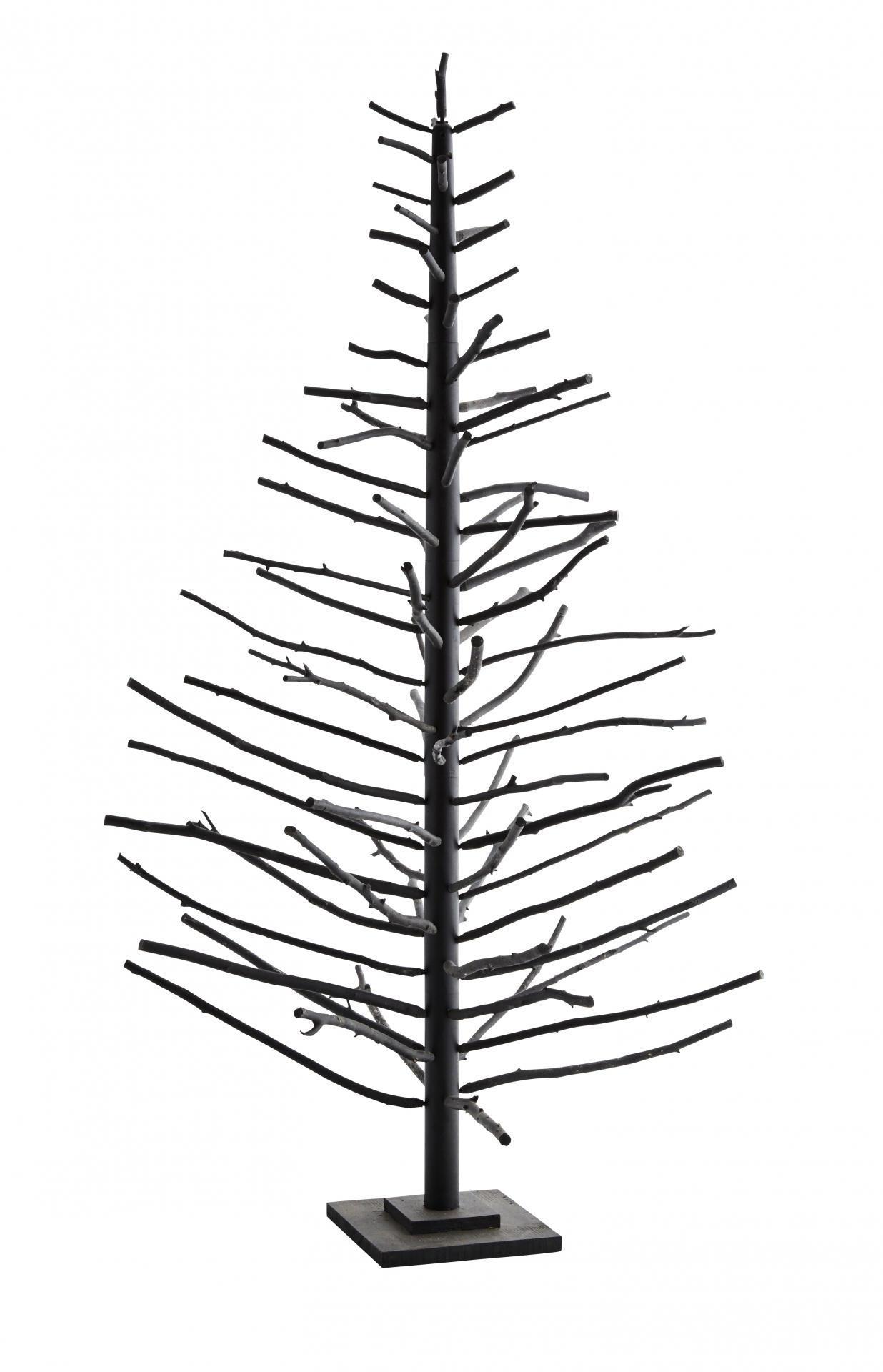 Madam Stoltz Kovový stromeček Christmas black - 180cm