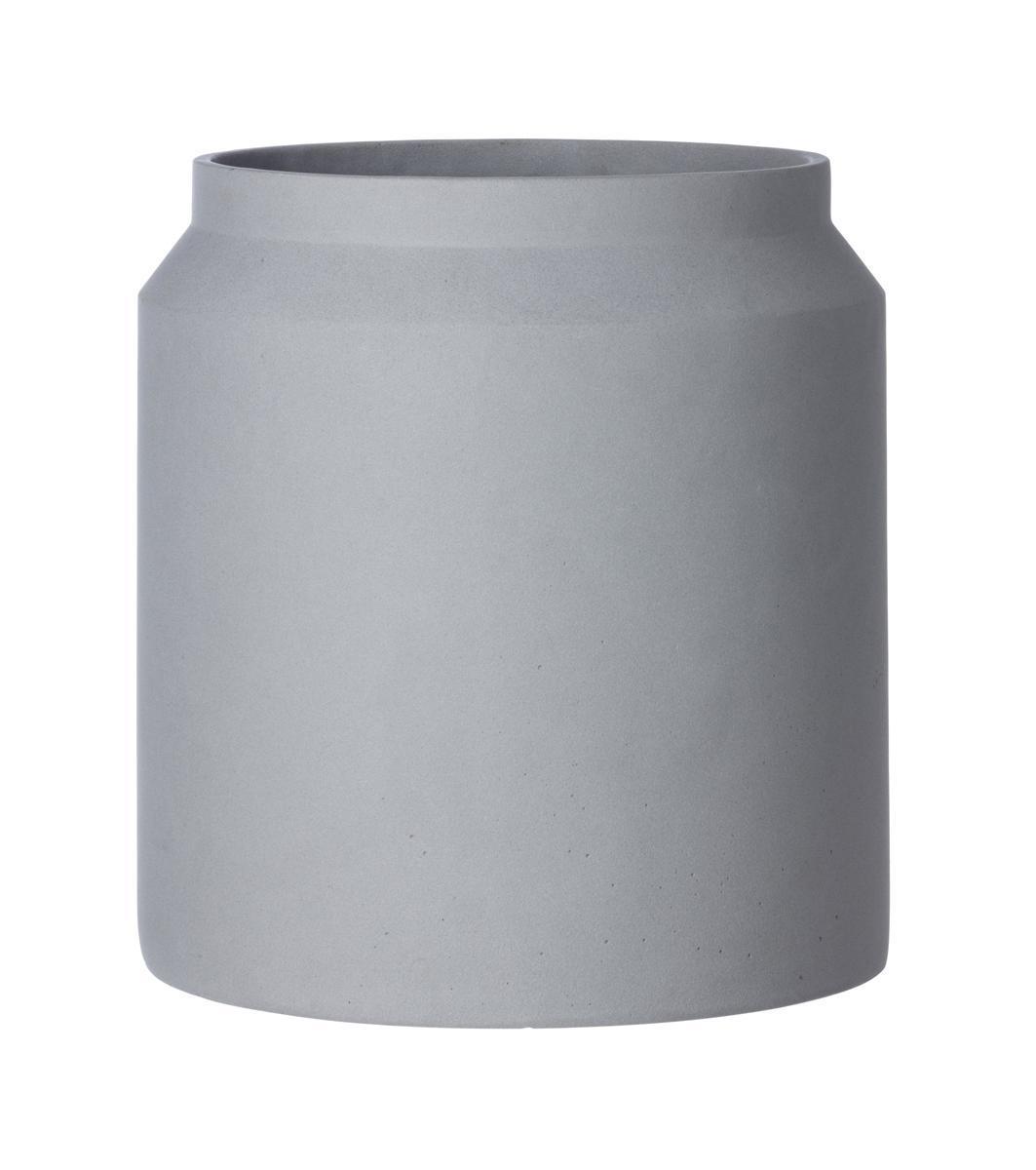 ferm LIVING Vysoký betonový květináč Light Grey Large 39 cm, šedá barva, beton