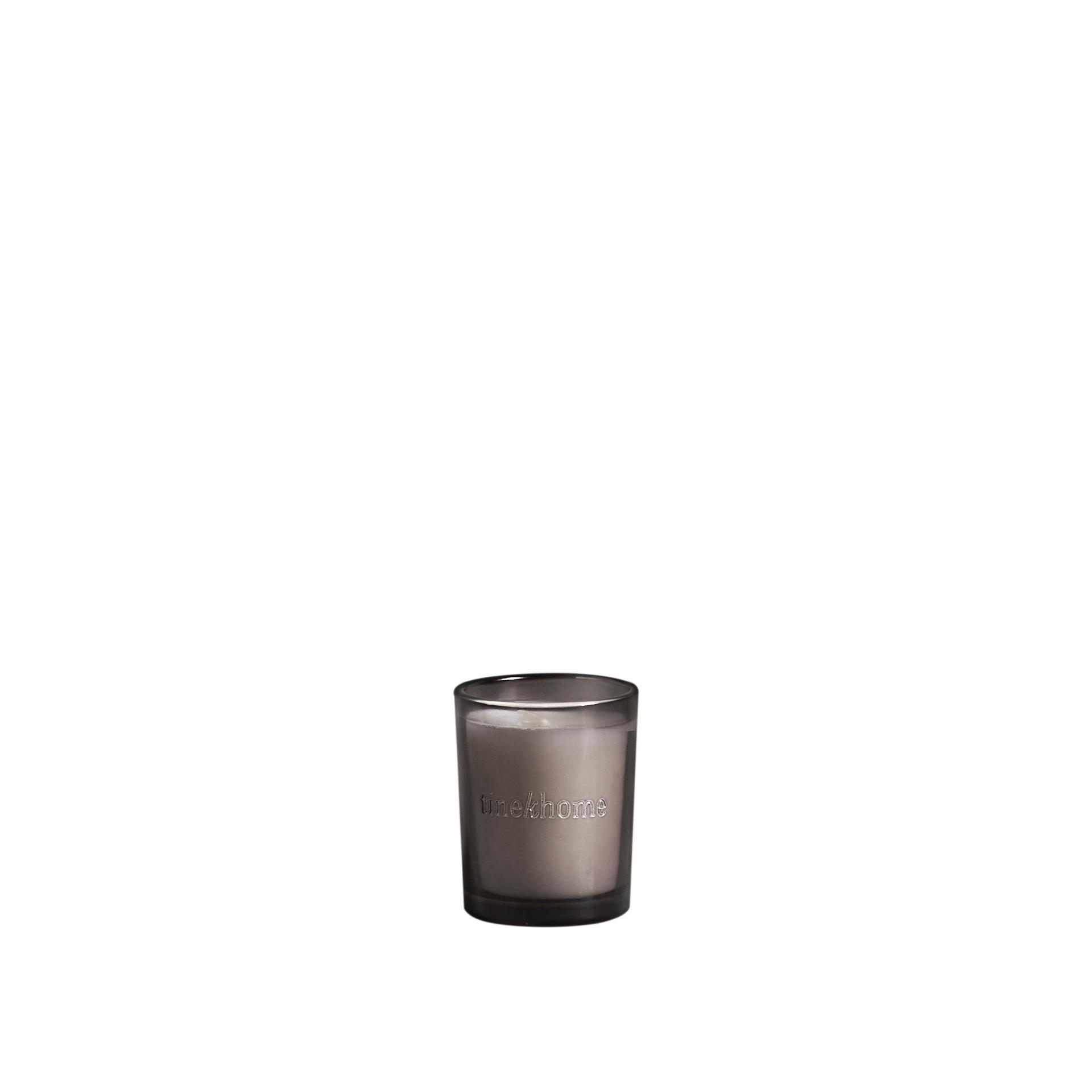 Tine K Home Vonná svíčka Green Tea Small, šedá barva, sklo