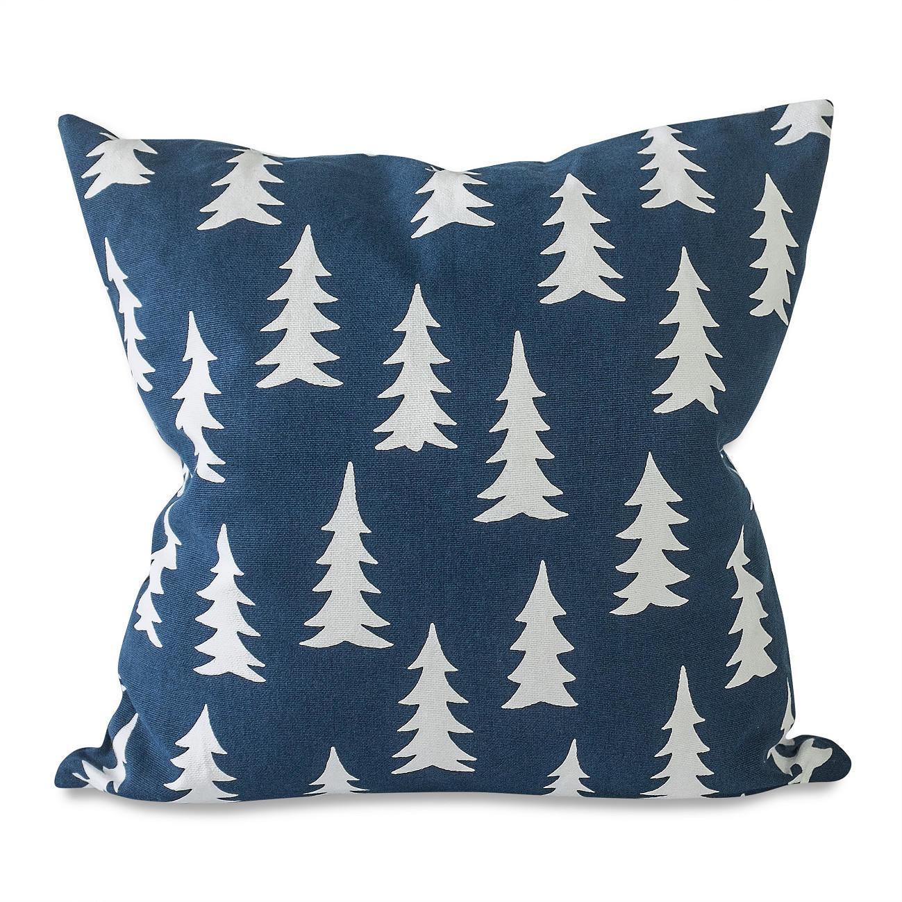 Fine Little Day Povlak na polštář z biobavlny Gran Midnight Blue 48 x 48 cm, modrá barva, textil