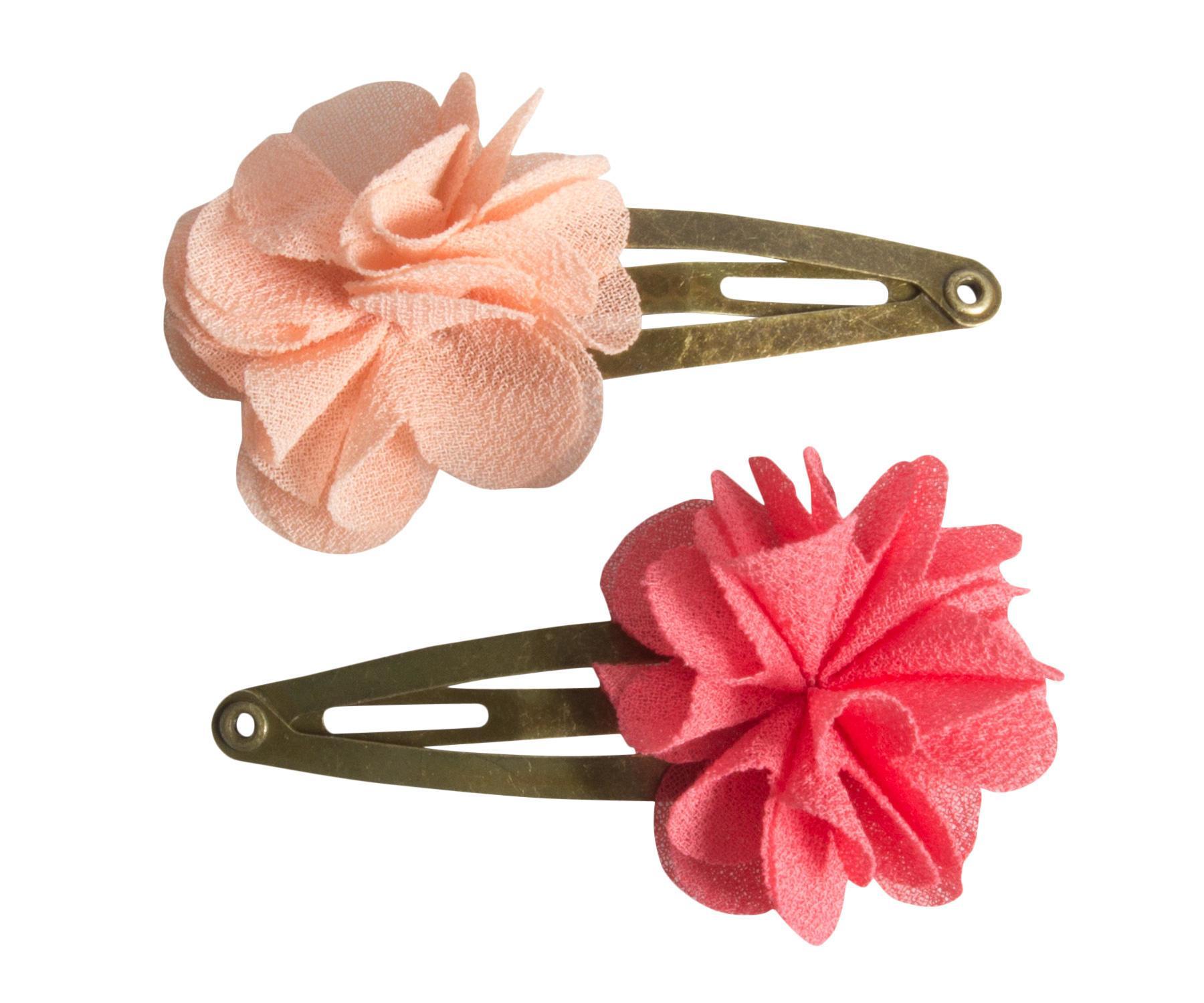 Sponky do vlasov so šifónovými kvetmi