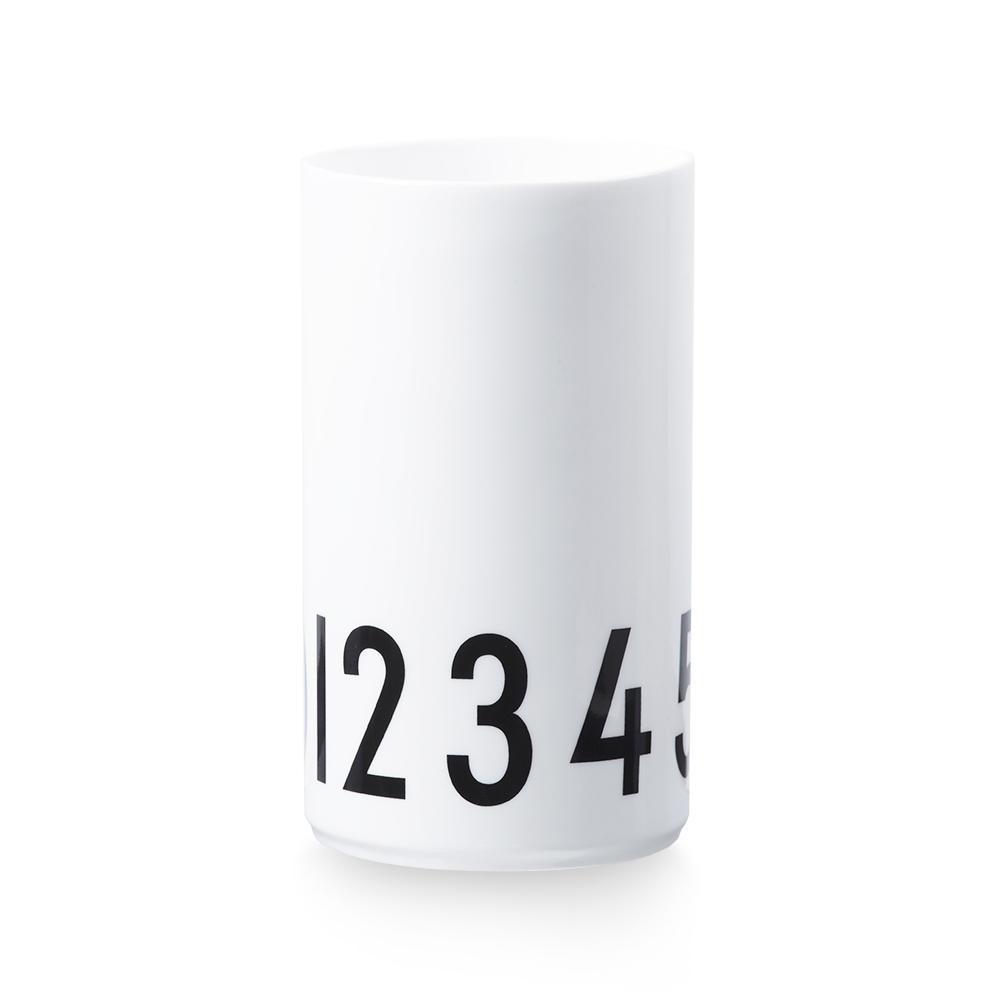 DESIGN LETTERS Porcelánová váza nebo dóza Numbers 20 cm, černá barva, bílá barva, porcelán