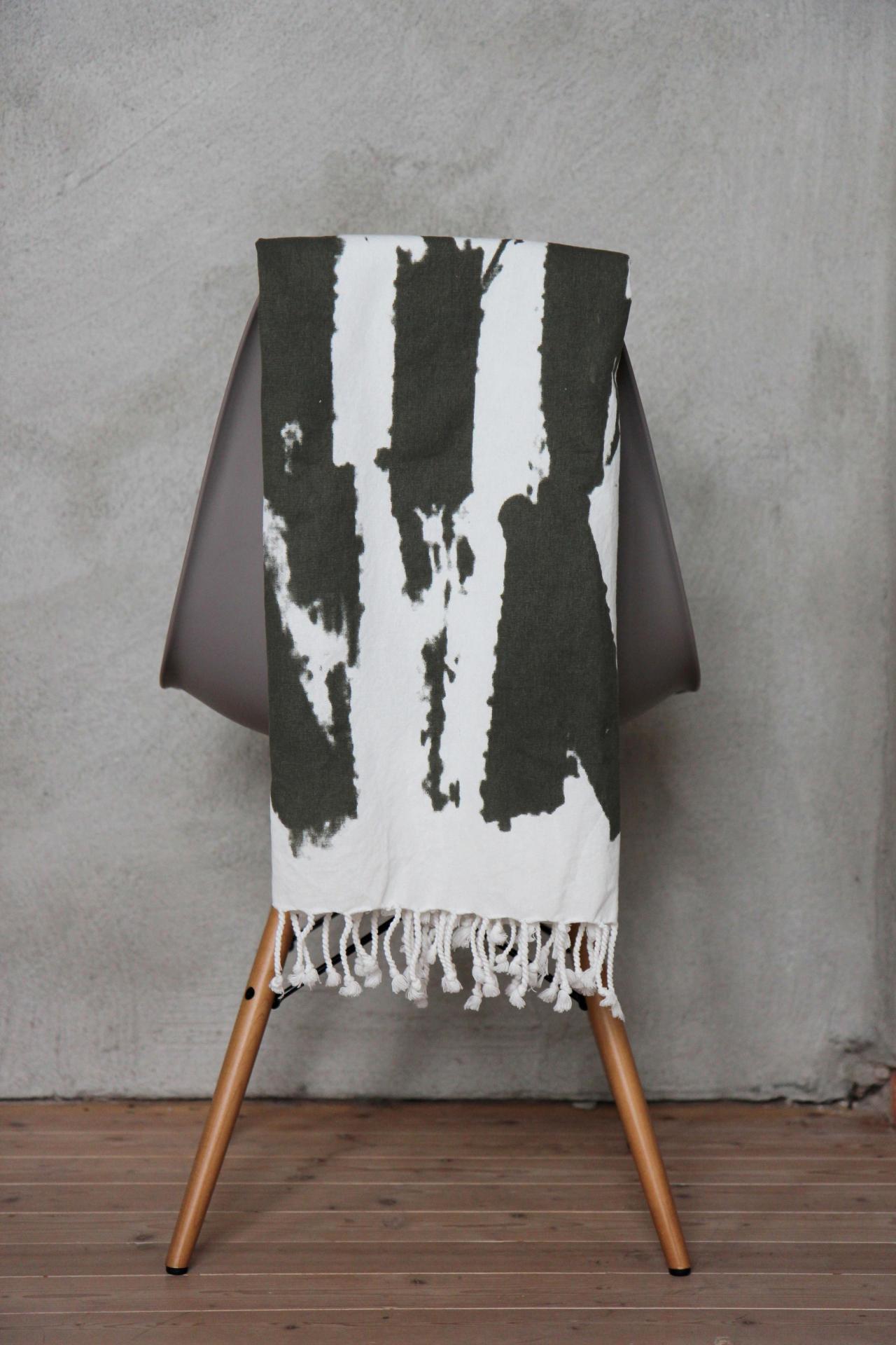 Ylva Skarp Přehoz - ručník - ubrus Green, zelená barva, textil