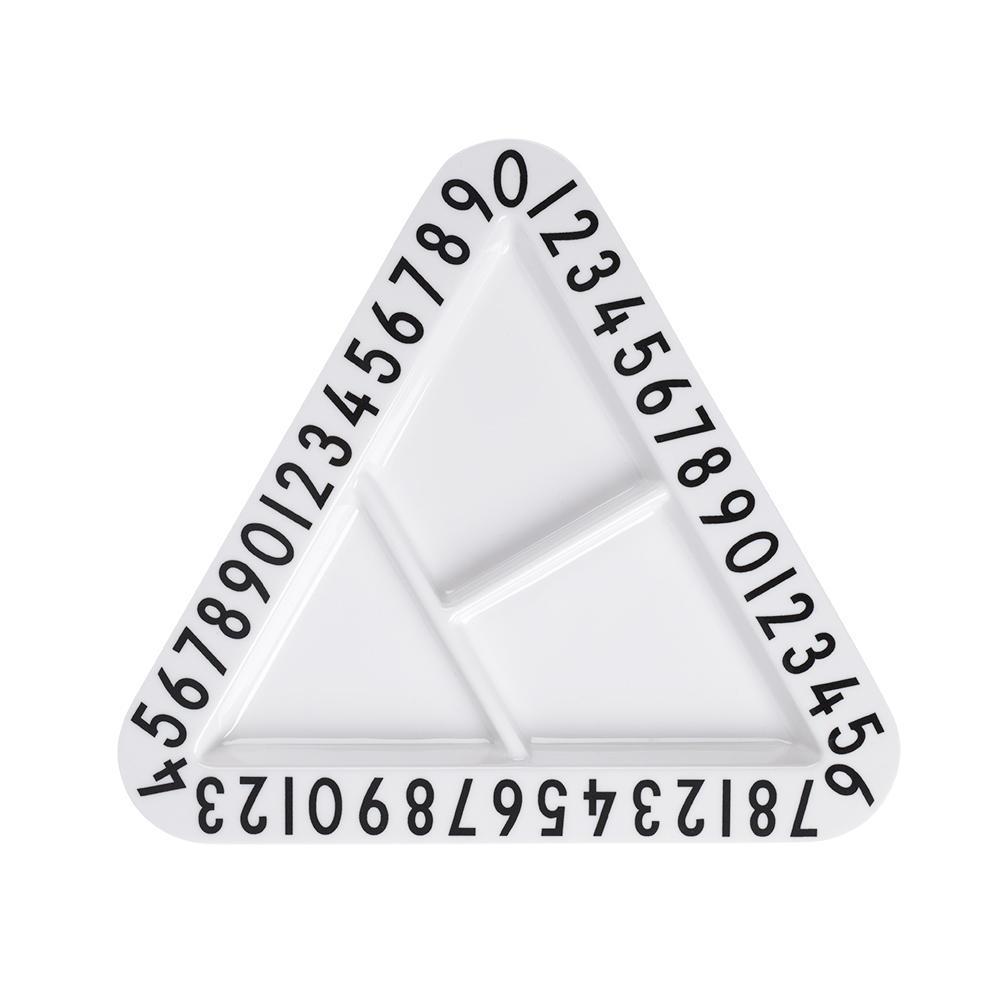 DESIGN LETTERS Dětský melaminový talířek Triangular, černá barva, bílá barva, melamin