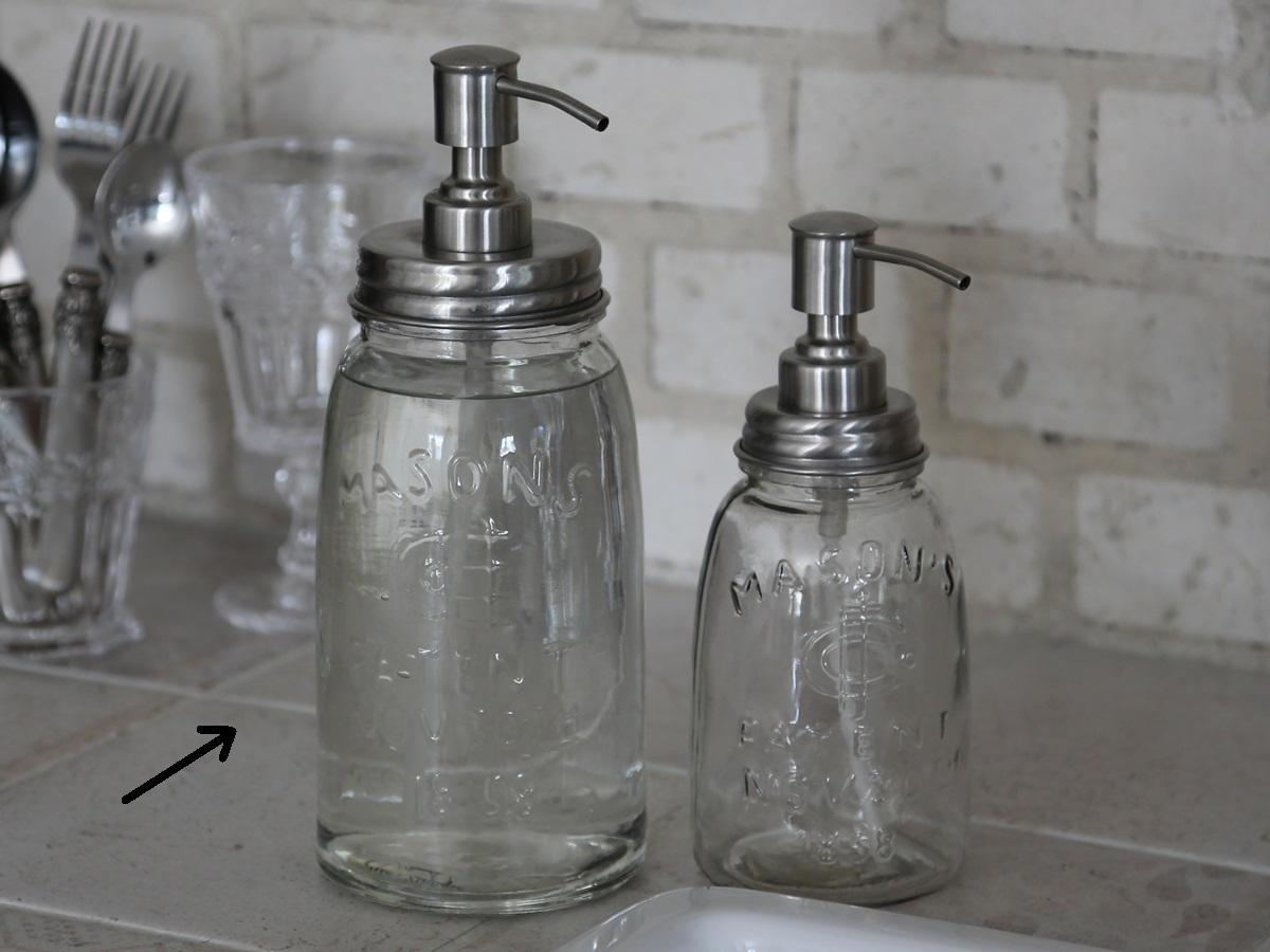 Chic Antique Zásobník na tekuté mýdlo 1000ml, stříbrná barva, čirá barva, sklo, kov
