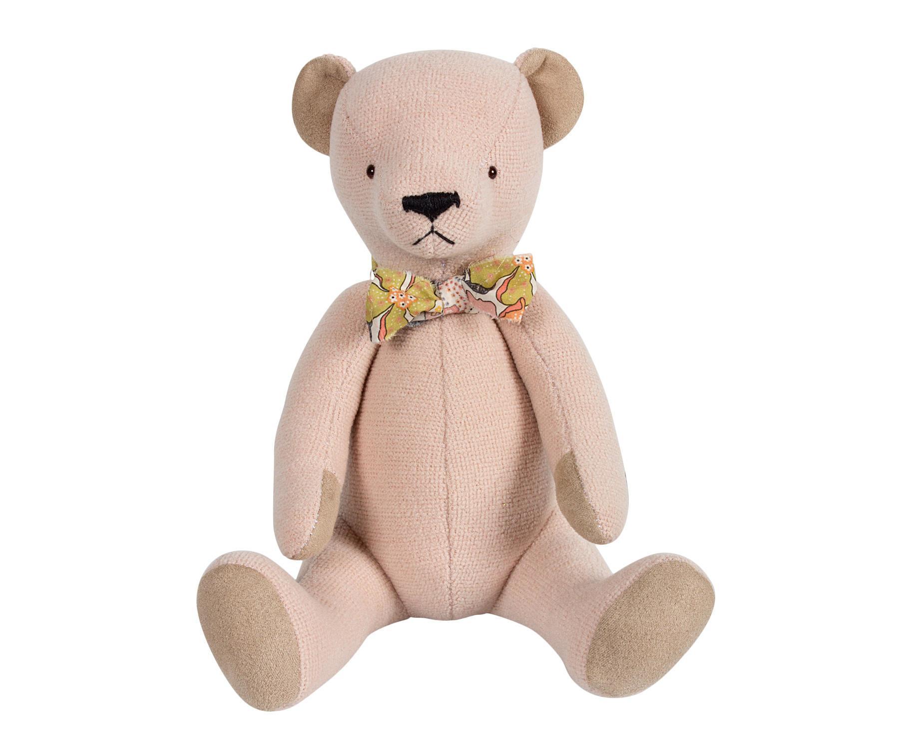 Maileg Medvídek Teddy Bear v taštičce - růžový, růžová barva, textil