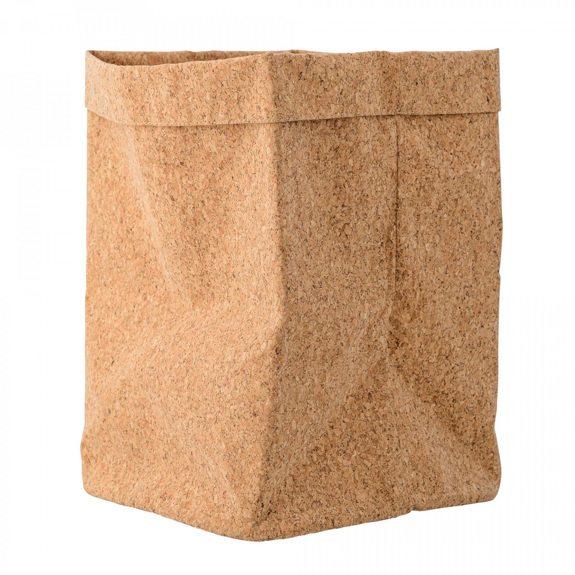 Bloomingville Úložný korkový box Light Brown, hnědá barva, korek