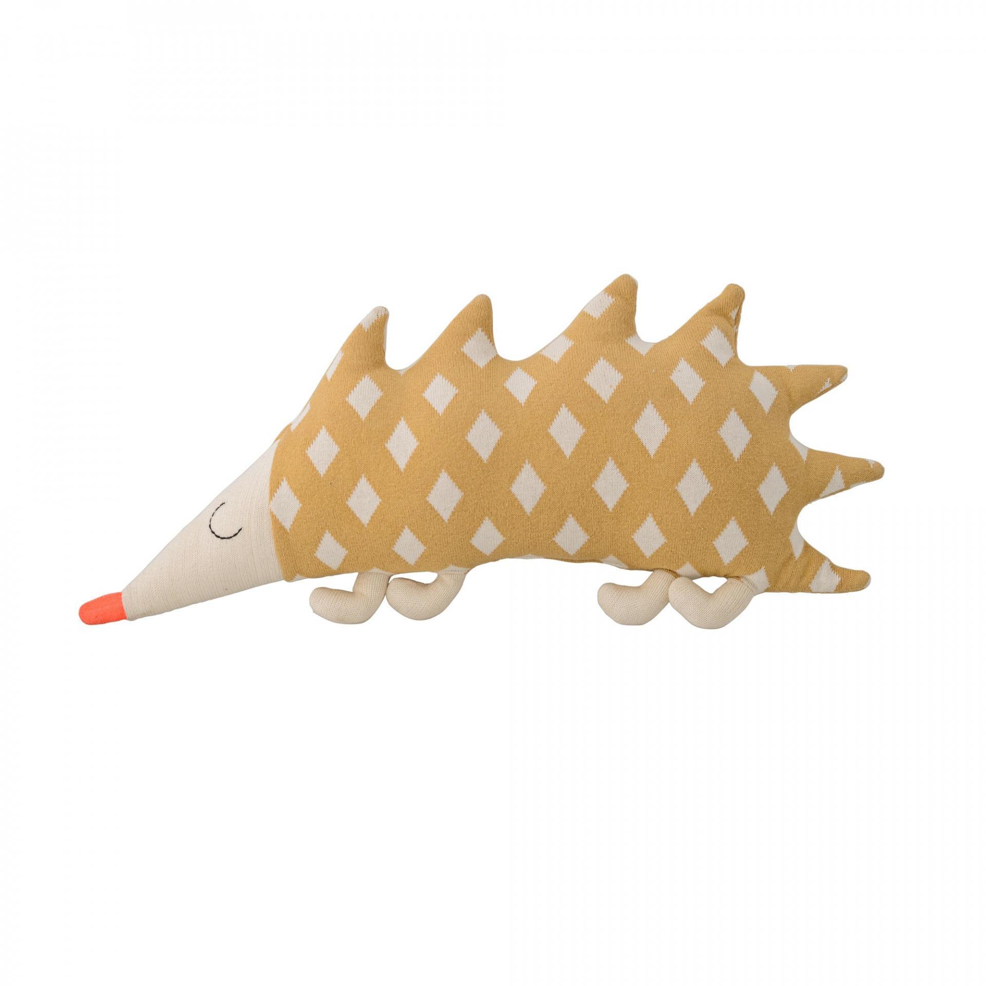 Bloomingville Dětský polštářek Hedgehog, žlutá barva, textil