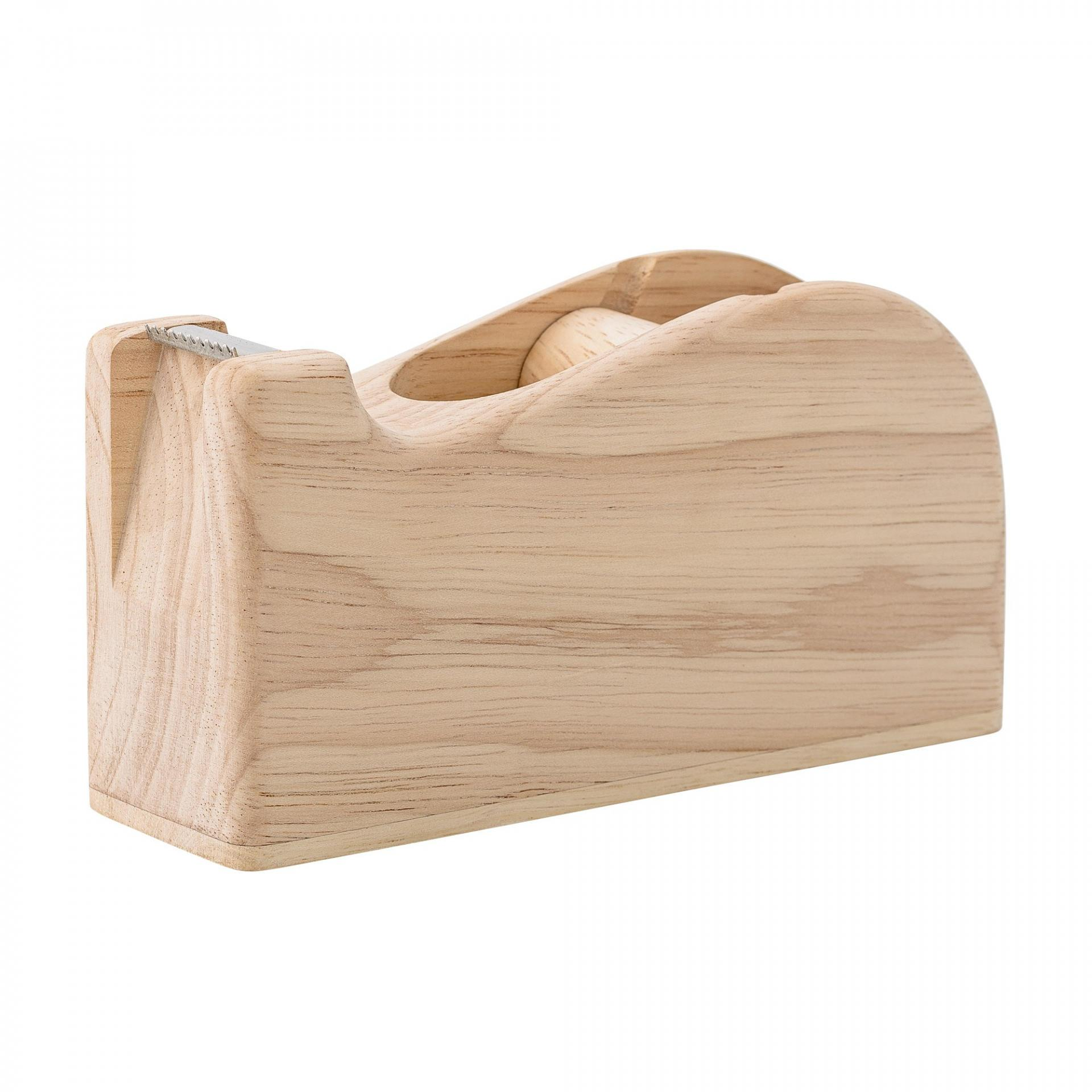 Bloomingville Dřevěný držák na lepící pásky Nature, hnědá barva, dřevo