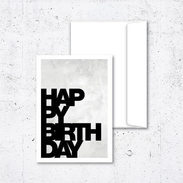 papírová přání k narozeninám Papírové přání k narozeninám s obálkou Marble White A5 | Nordic Day papírová přání k narozeninám