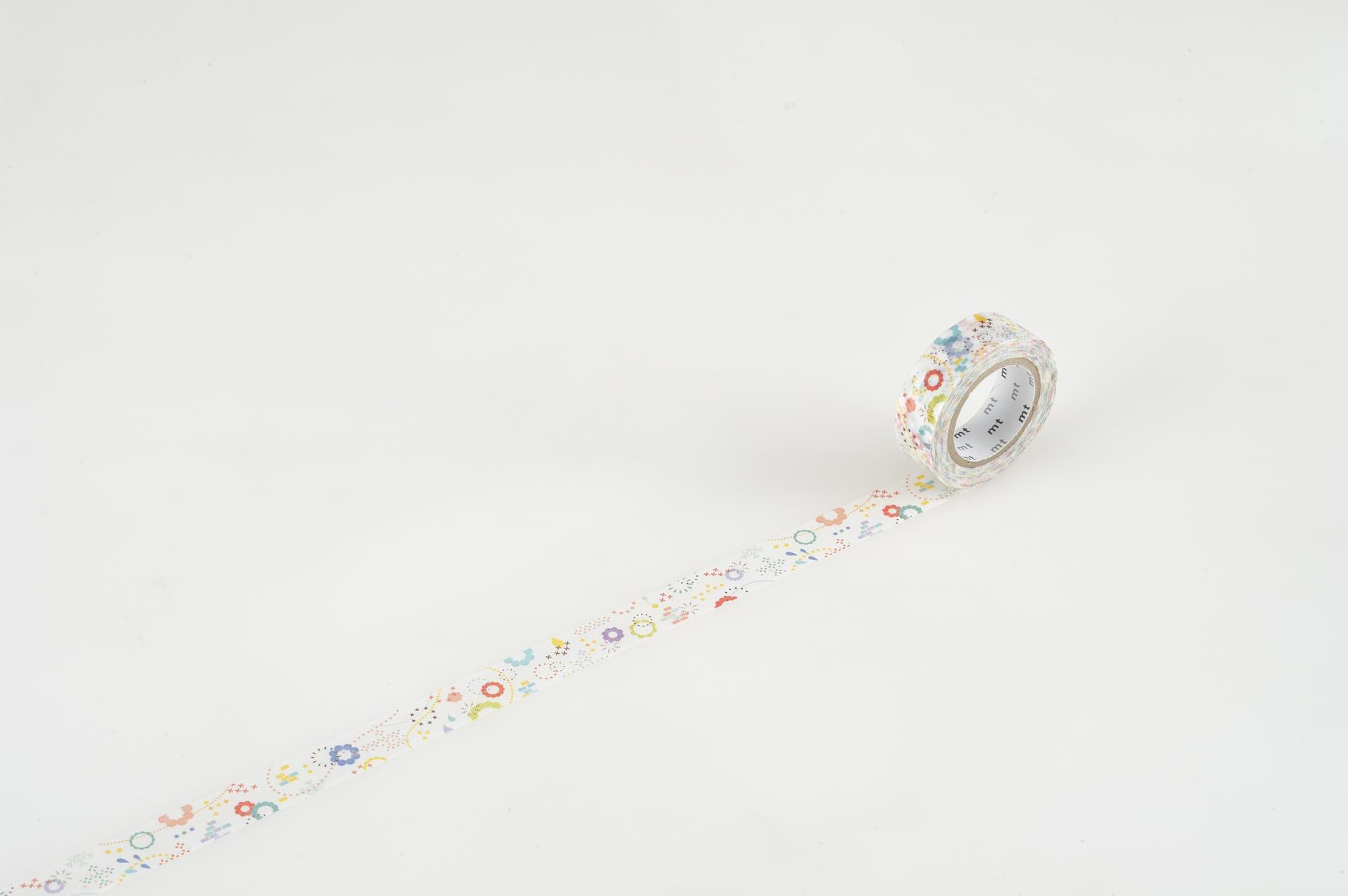 mt Designová samolepicí páska Colorful POP, multi barva, papír
