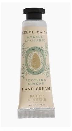 Panier des Sens Mini krém na ruce 10 ml - mandle, béžová barva, kov