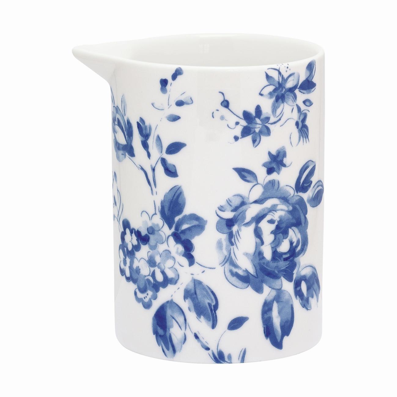 GREEN GATE Džbánek Amanda indigo - small, modrá barva, bílá barva, porcelán