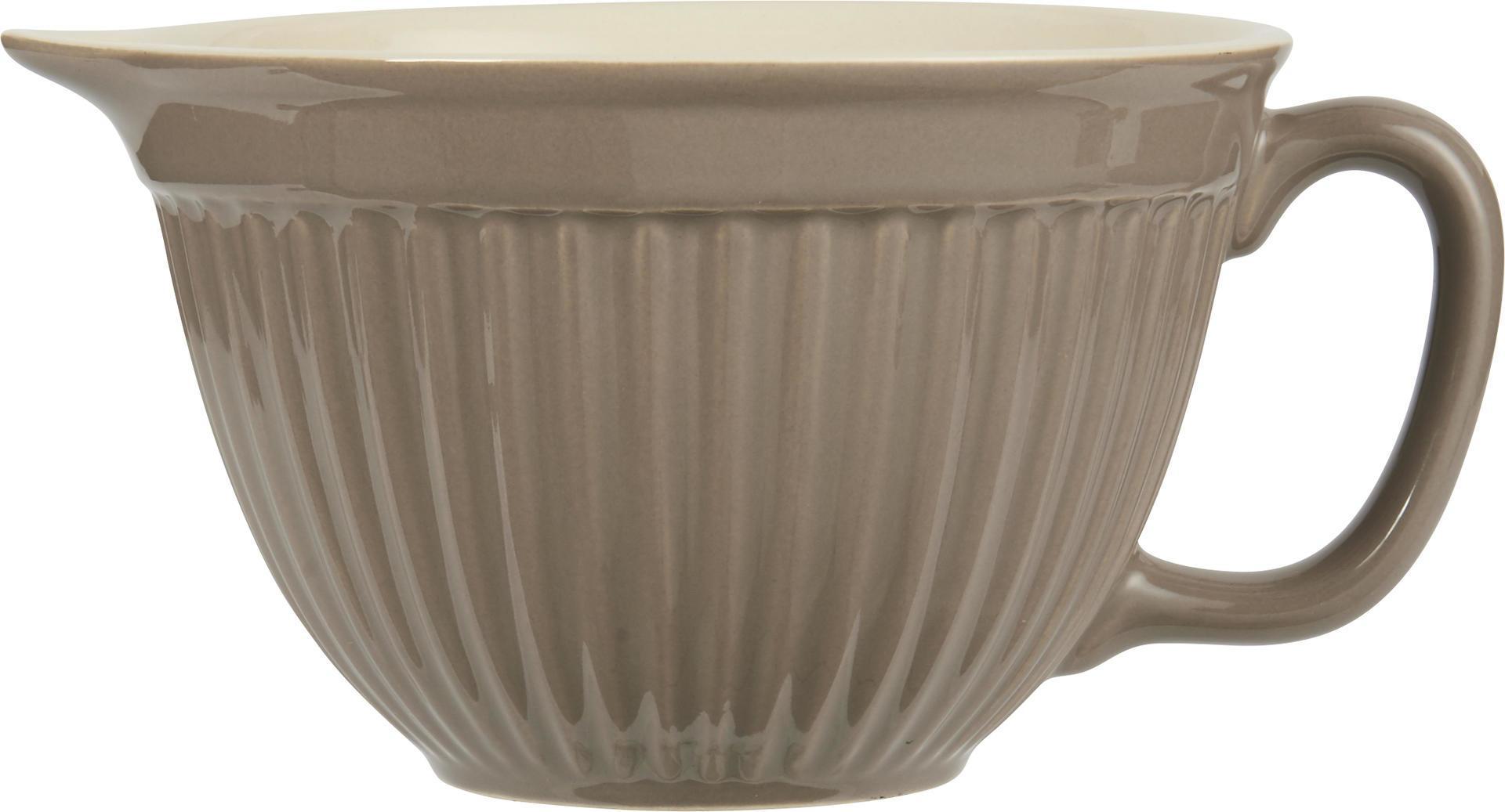 IB LAURSEN Mísa na těsto Mynte Milky brown, hnědá barva, keramika