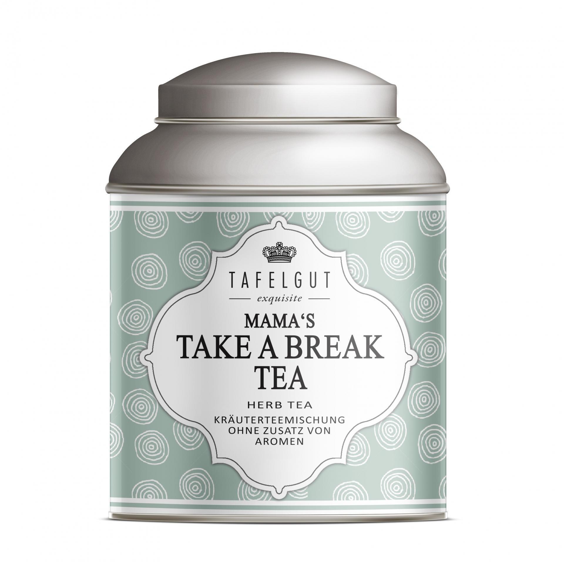 TAFELGUT Mini bylinný čaj pro maminky Take a Break - 10 gr, růžová barva, bílá barva, kov