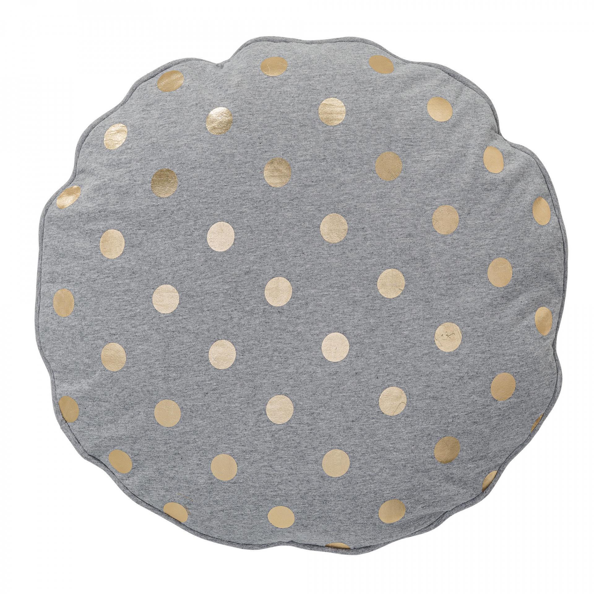 Bloomingville Kulatý polštářek Gold Dots