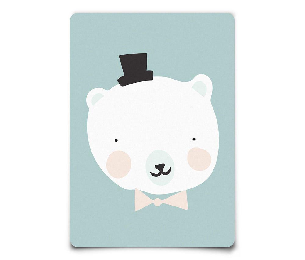 EEF lillemor Pohlednice Polar Bear A6, modrá barva, papír