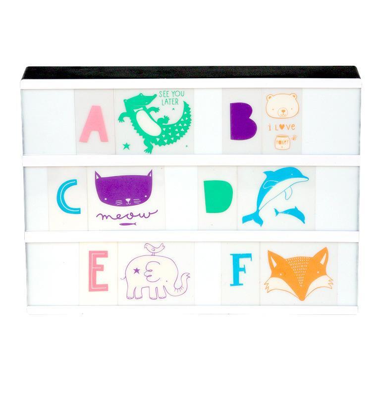 A Little Lovely company Set obrázků a písmenek pro Lightbox ABC Pastel