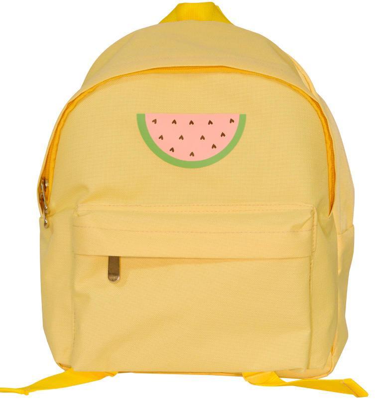 A Little Lovely Company Dětský batůžek Watermelon, žlutá barva, textil