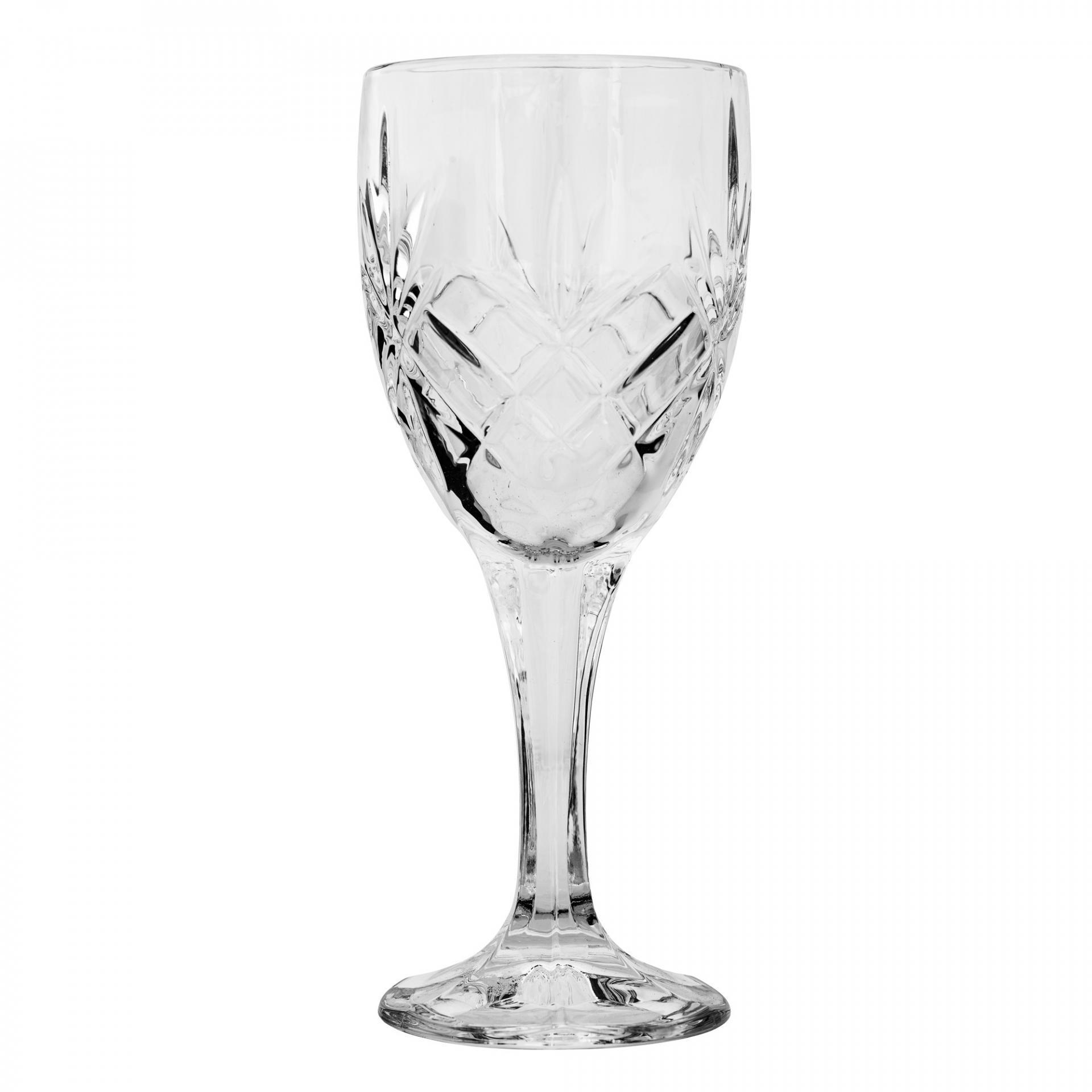 Bloomingville Sklenička na víno Crystal, čirá barva, sklo