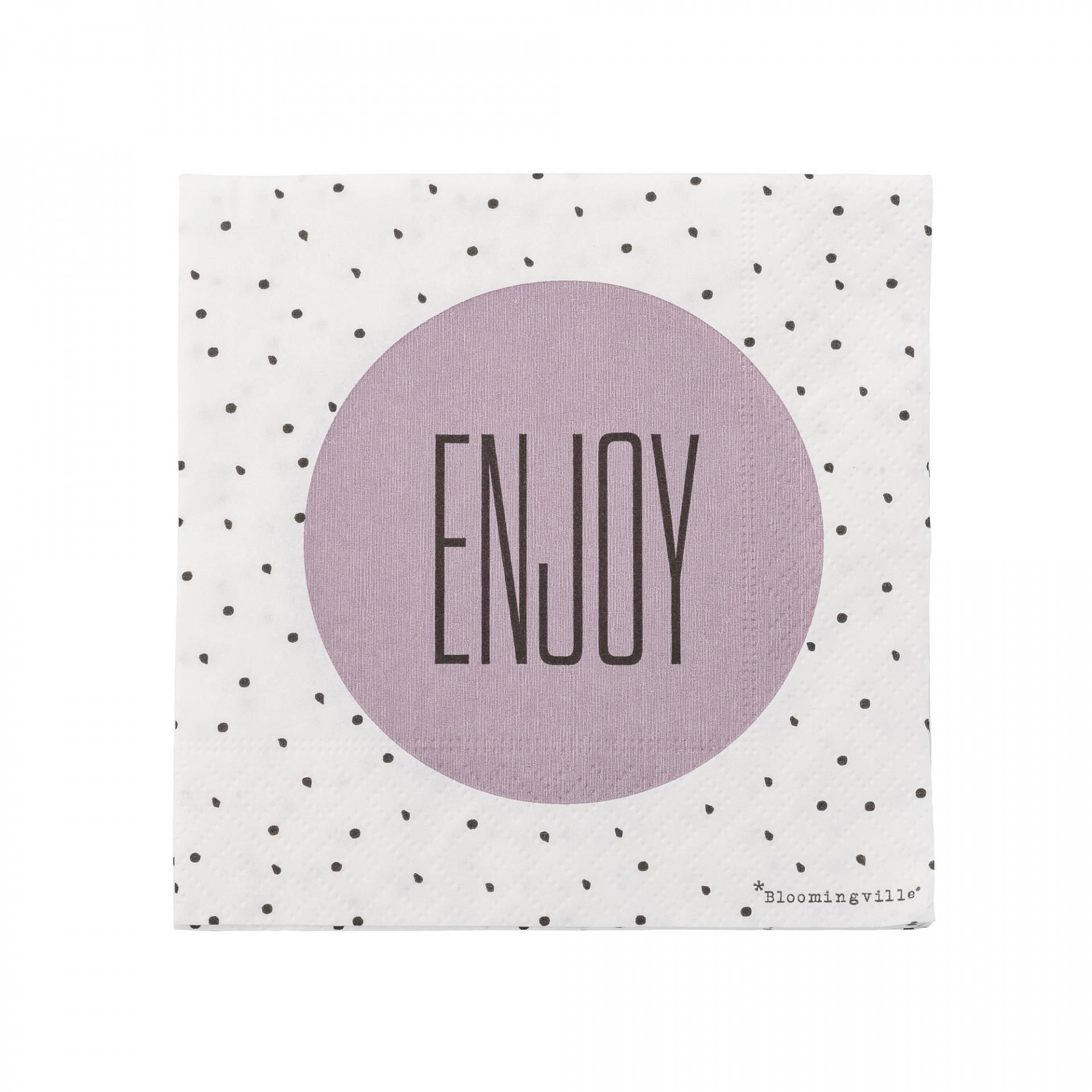 Bloomingville Papírové ubrousky Enjoy - 20 ks