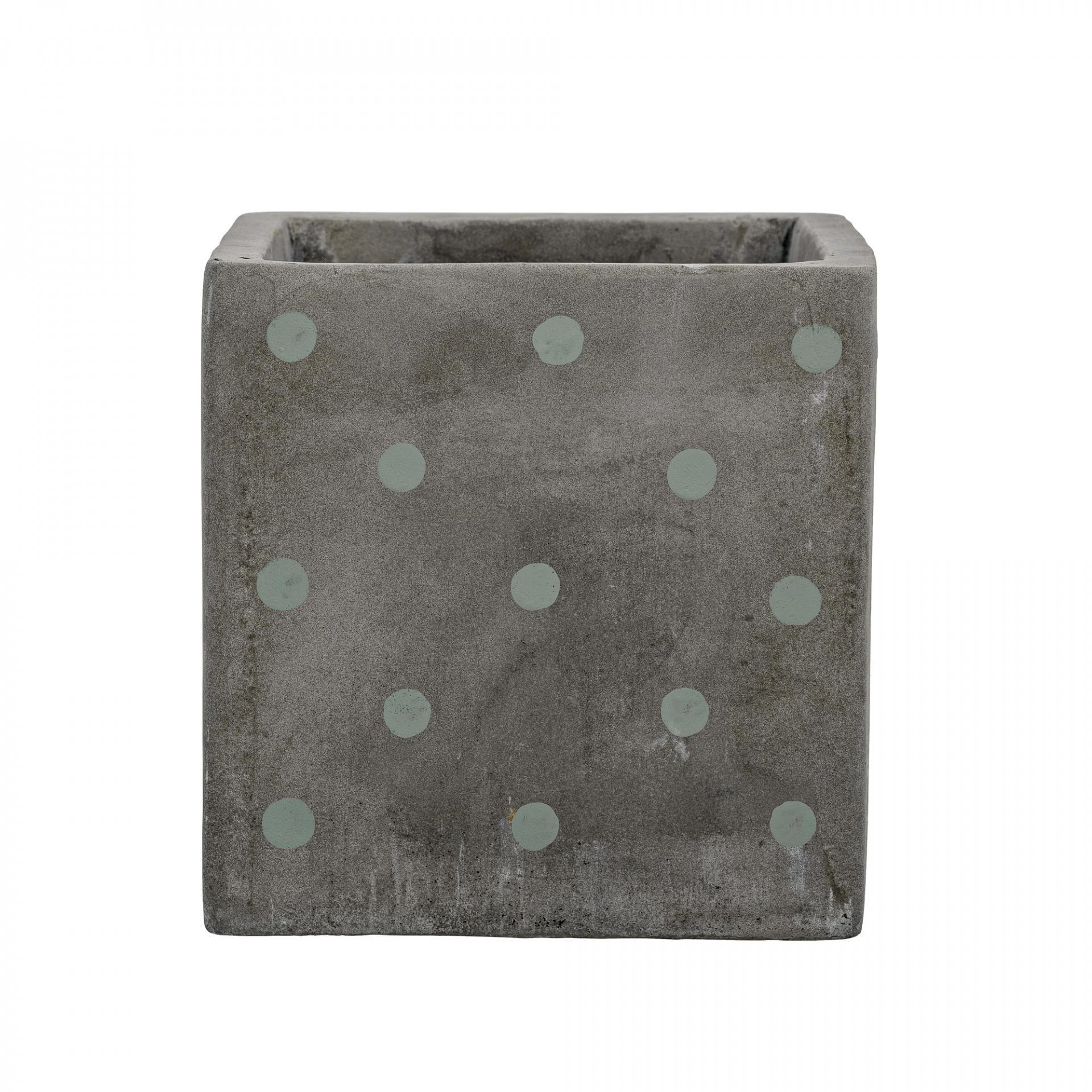 Bloomingville Betonový květináč Dots, šedá barva, beton