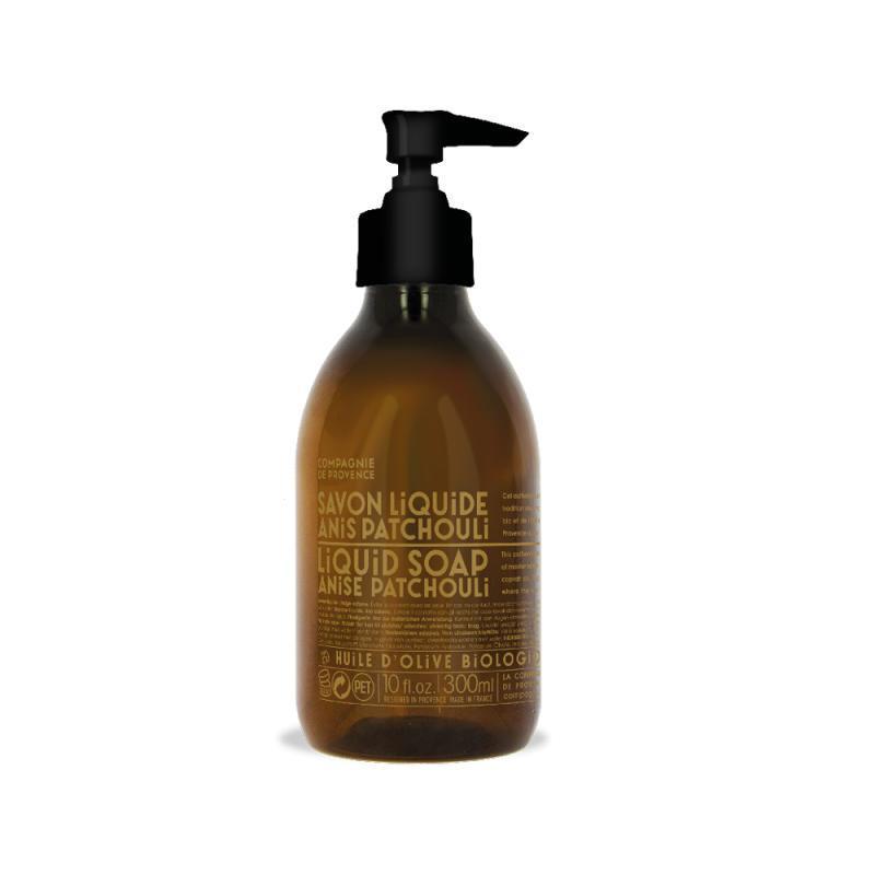 COMPAGNIE DE PROVENCE Tekuté mýdlo Anýz a pačuli 300ml, hnědá barva, sklo