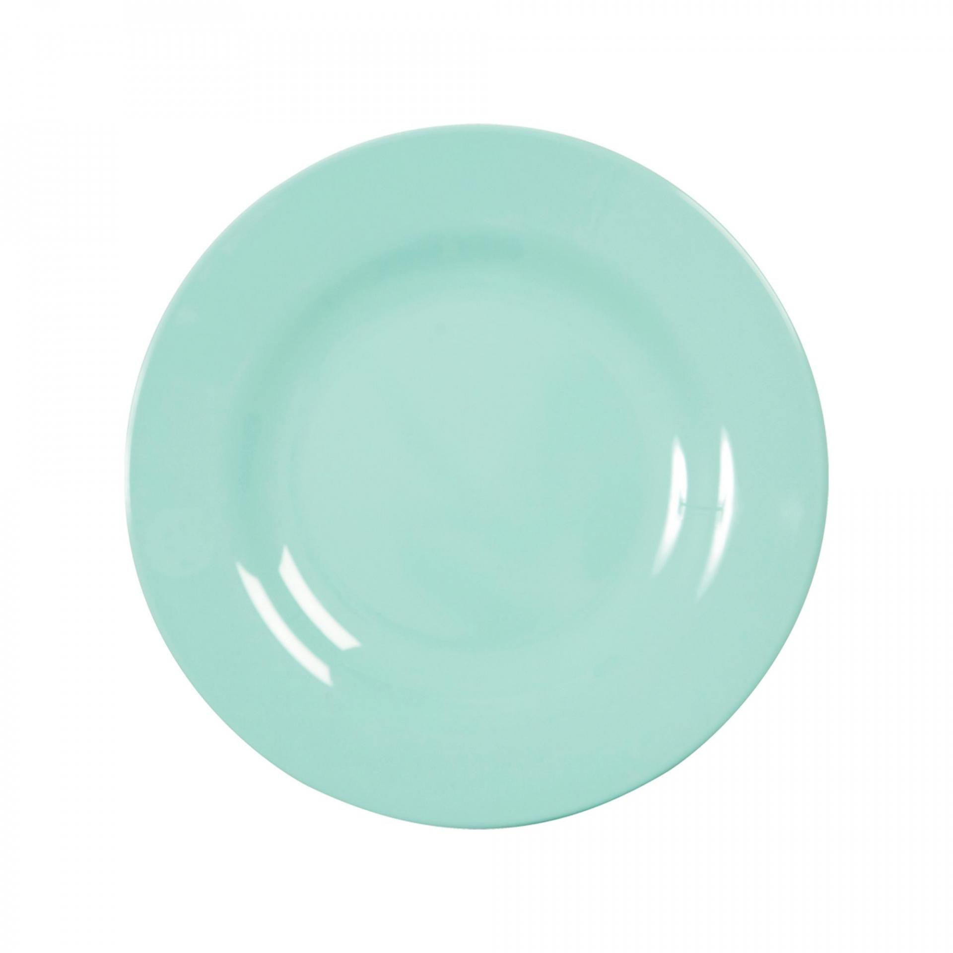 rice Melaminový talíř Dark Mint - menší, zelená barva, melamin 20 cm