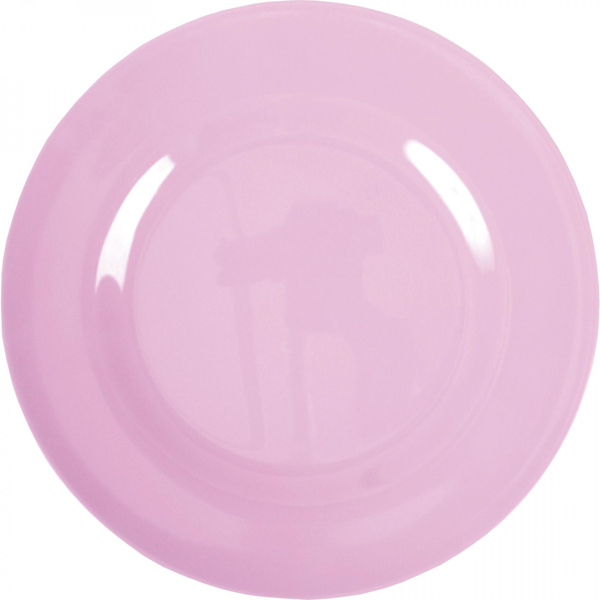 rice Melaminový talíř Pink, růžová barva, melamin 25 cm