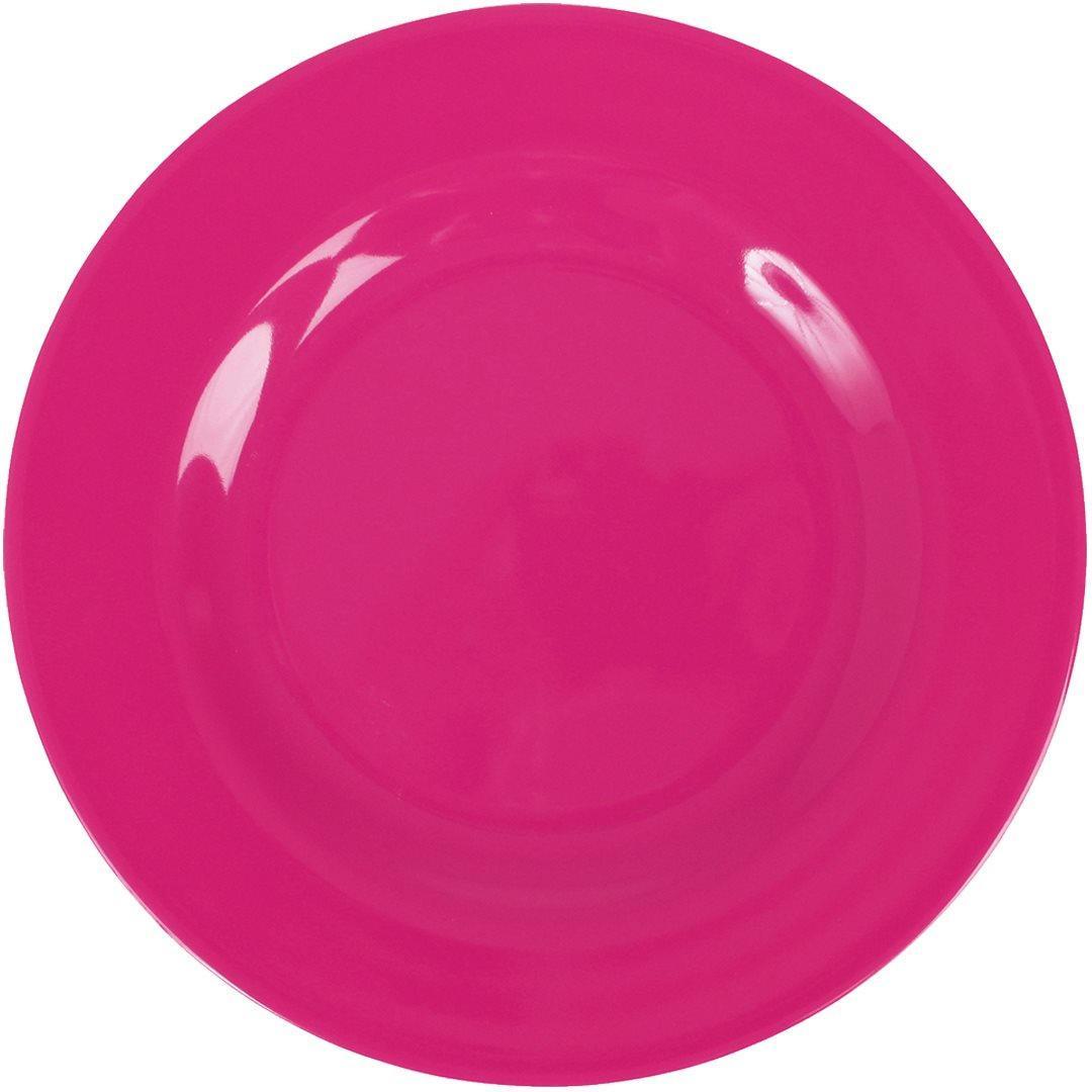 Rice Melaminový talíř Dark Pink