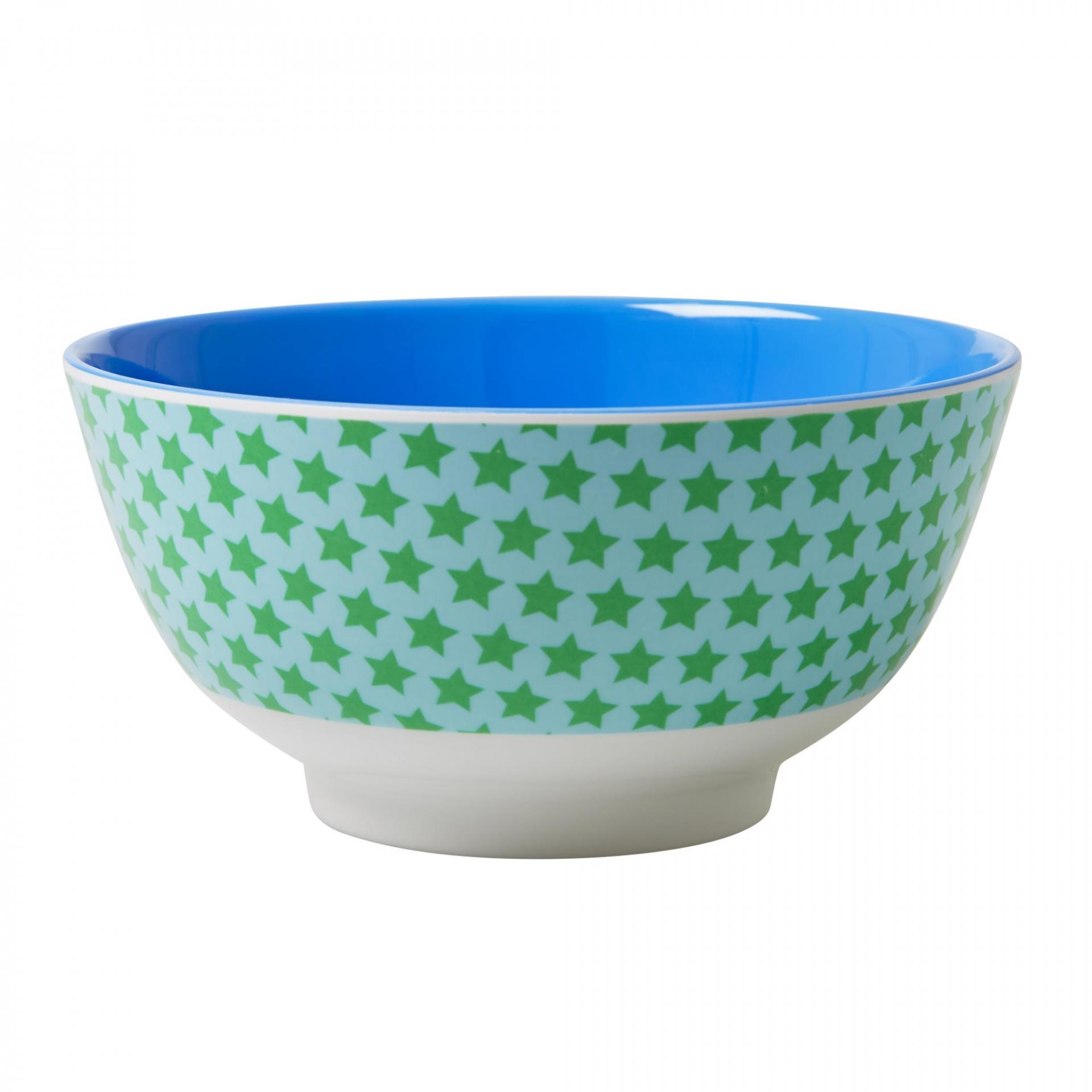 rice Melaminová miska Star green, modrá barva, zelená barva, melamin