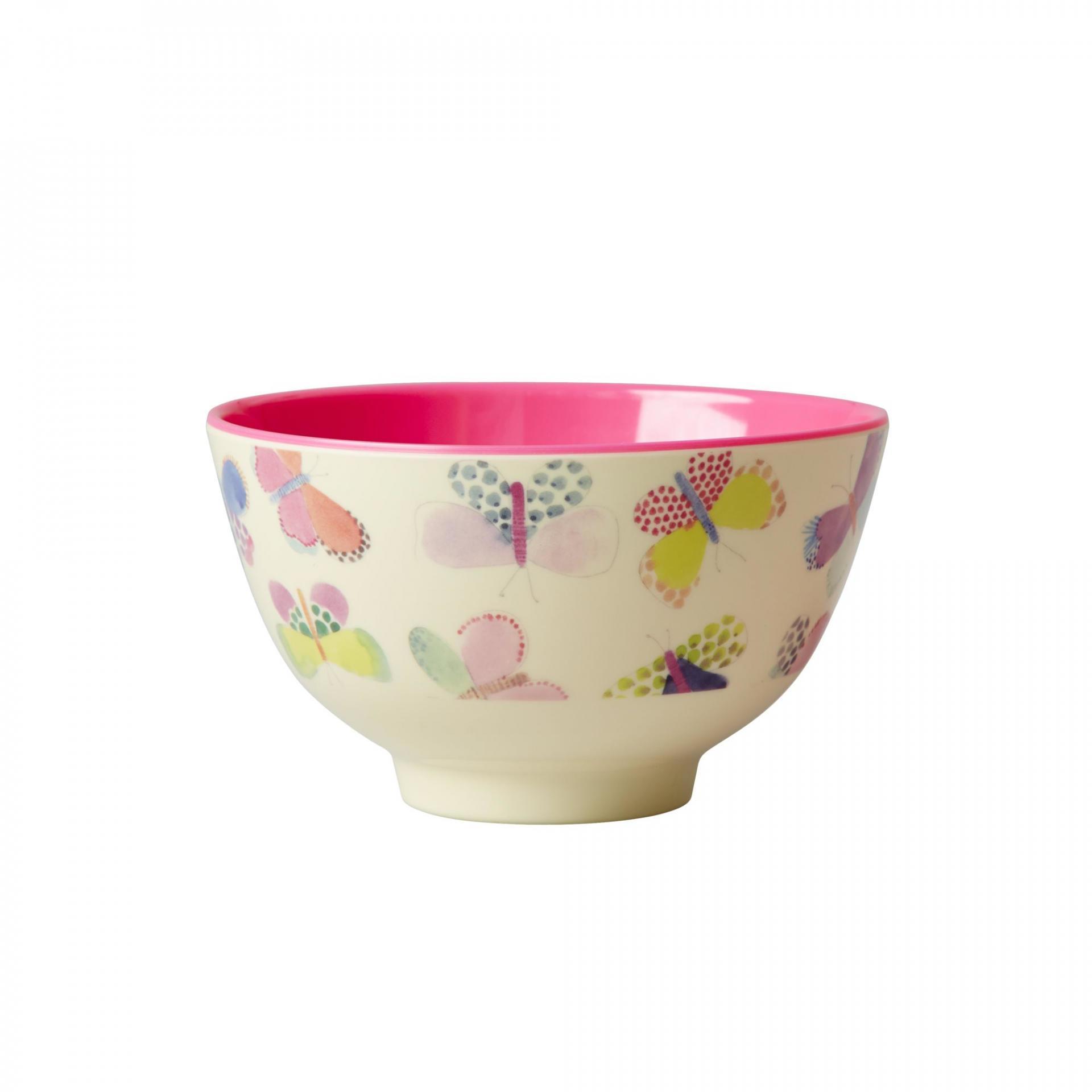 rice Melaminová miska Butterfly small, růžová barva, multi barva, melamin