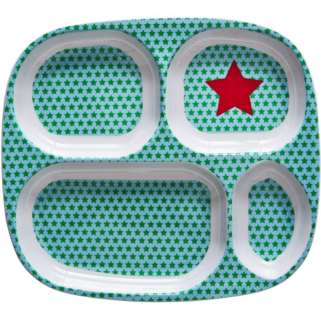 Rice Melaminový talíř se 4 přihrádkami Star