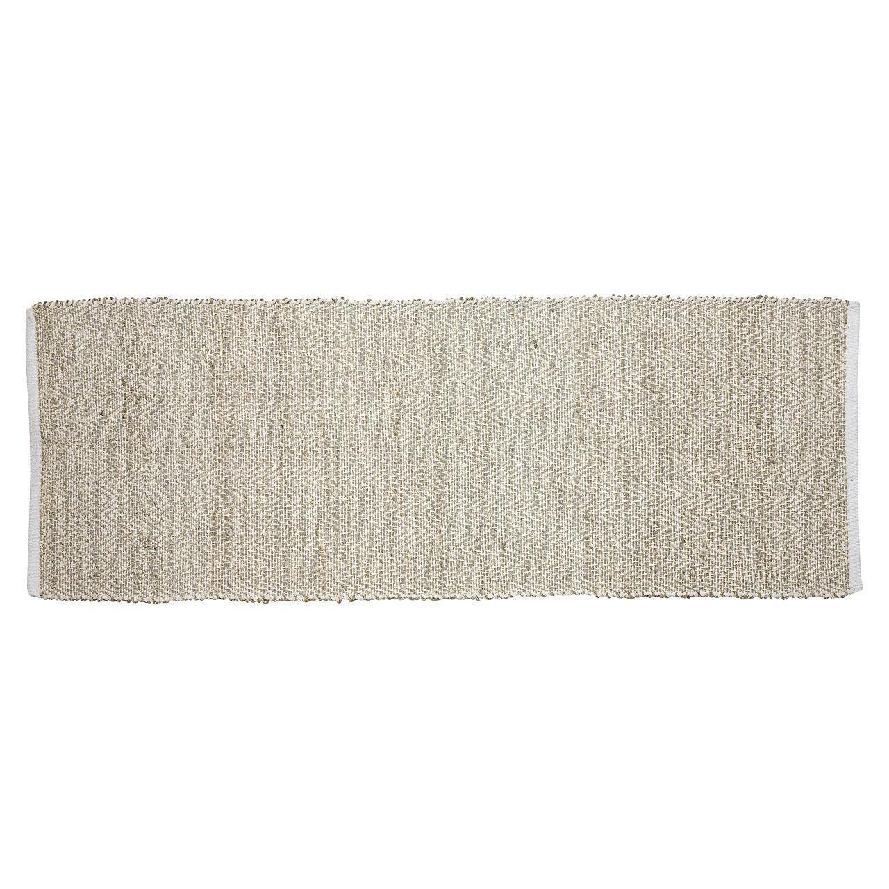 Hübsch Jutový koberec Herringbone 60x180 Béžová