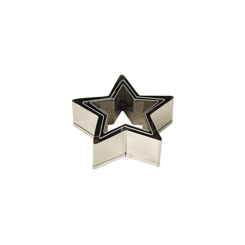Blossom Vykrajovátka Star - set 3 ks, stříbrná barva, kov