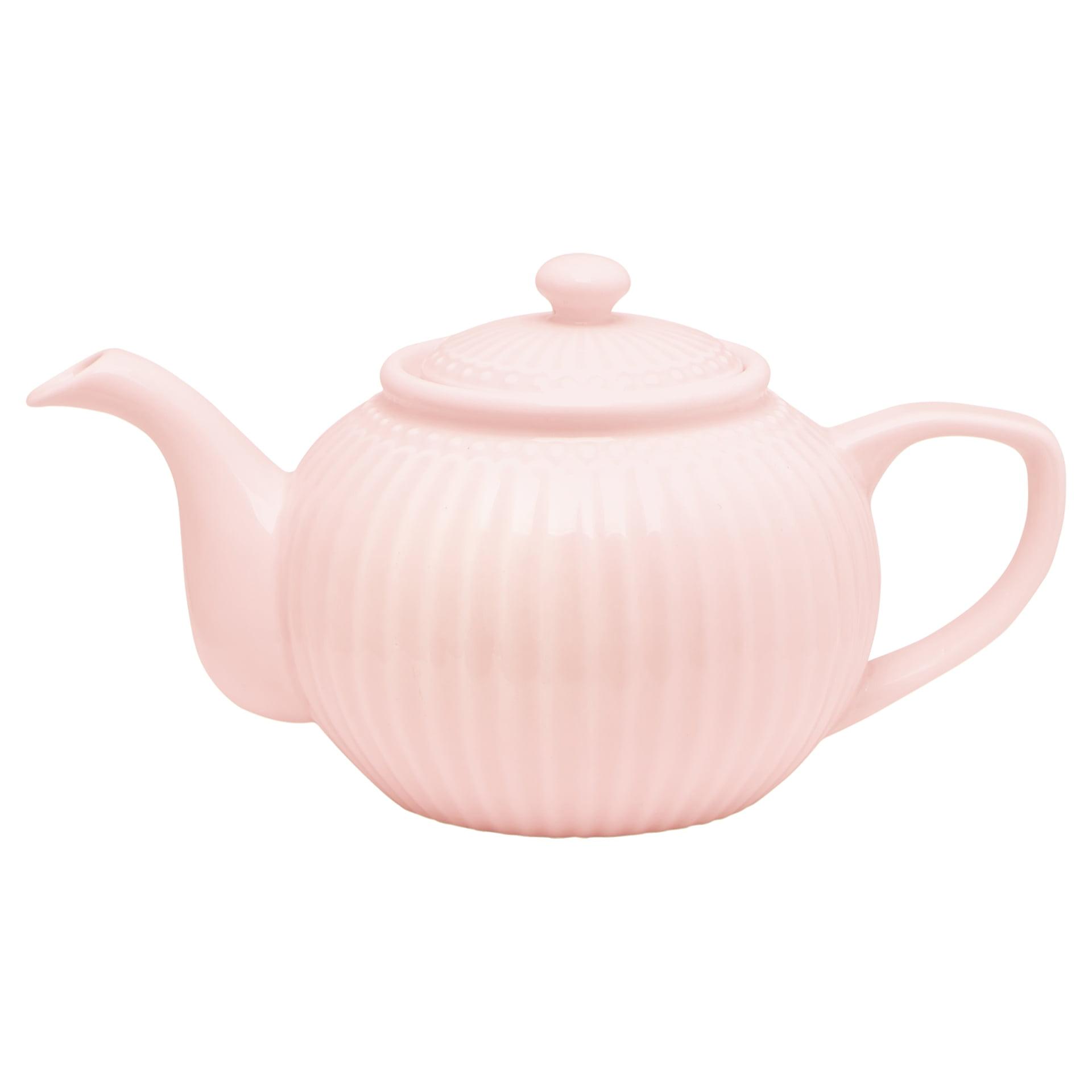 GREEN GATE Porcelánová konvice Alice pale pink, růžová barva, porcelán