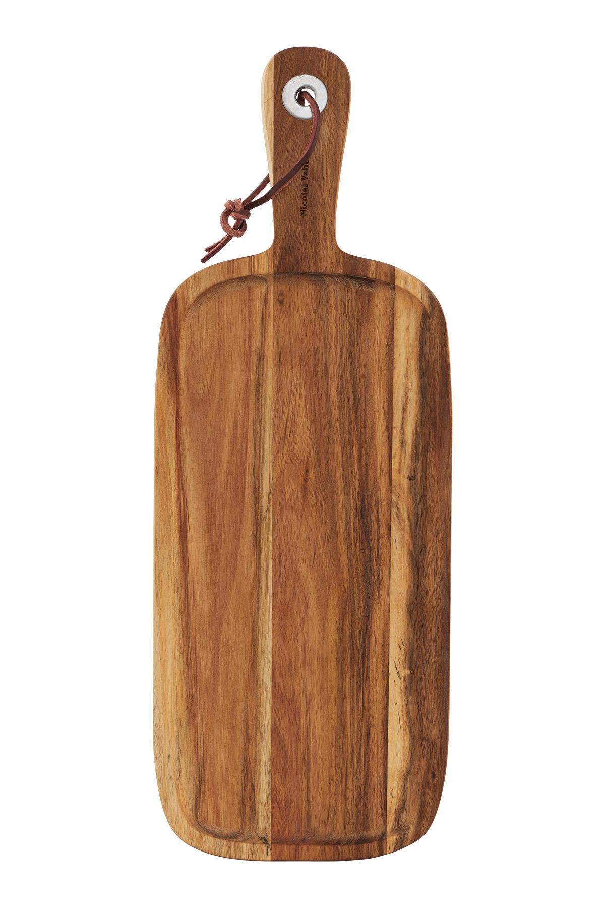 Nicolas Vahé Prkénko z akátového dřeva, hnědá barva, dřevo