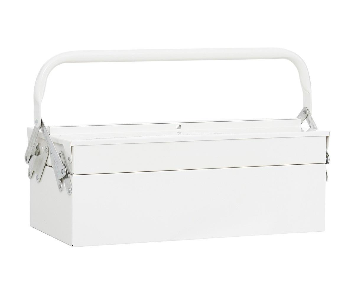 House Doctor Kufřík na nářadí White, bílá barva, kov