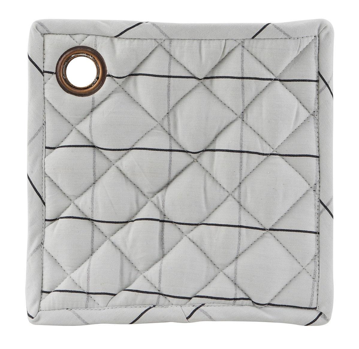 House Doctor Podložky pod hrnec Check Grey - set 2 ks, šedá barva, textil
