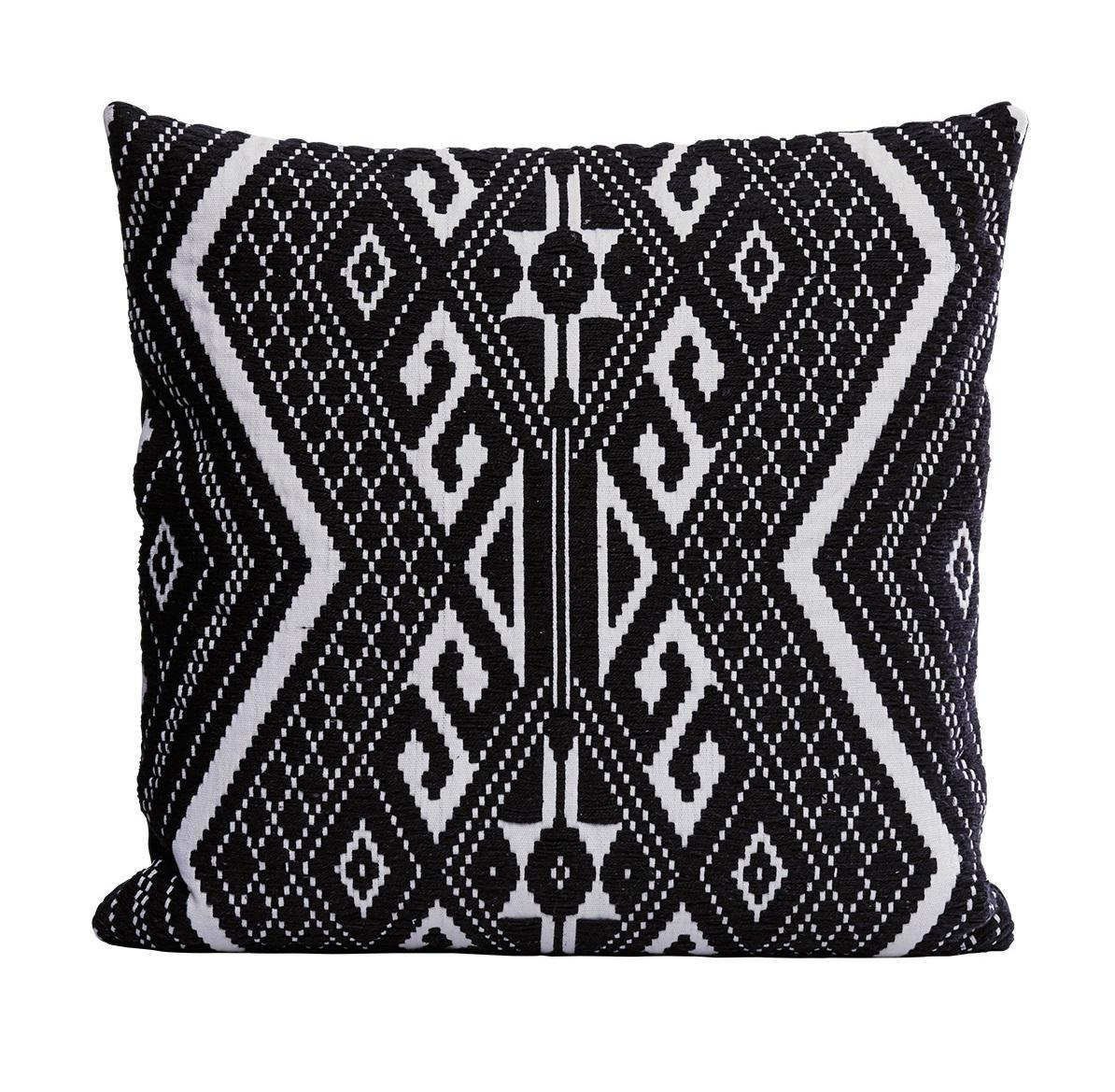 House Doctor Povlak na polštář Andy 50x50 cm, černá barva, textil