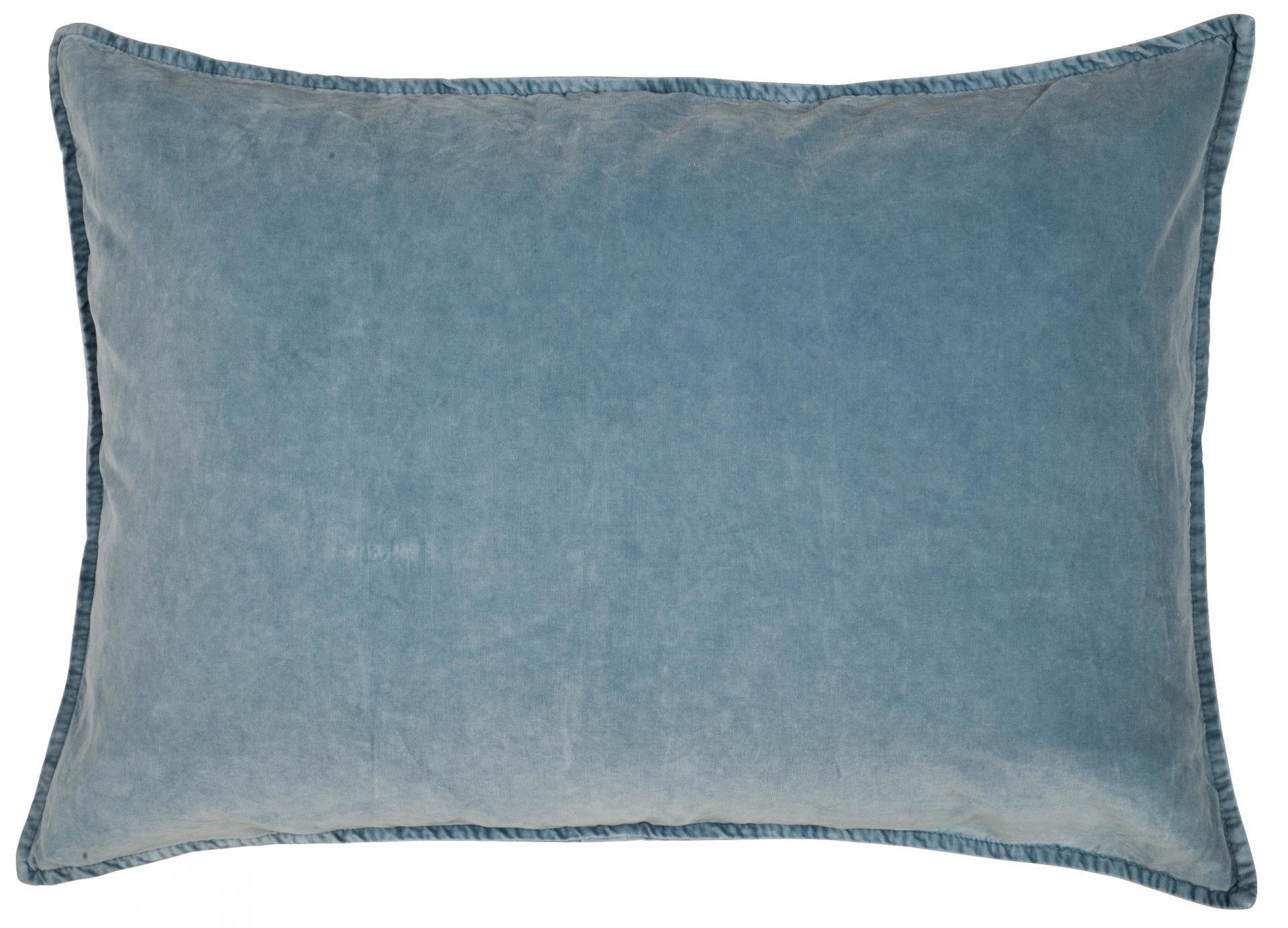 IB LAURSEN Povlak na polštář Velvet Dusty blue 50x70
