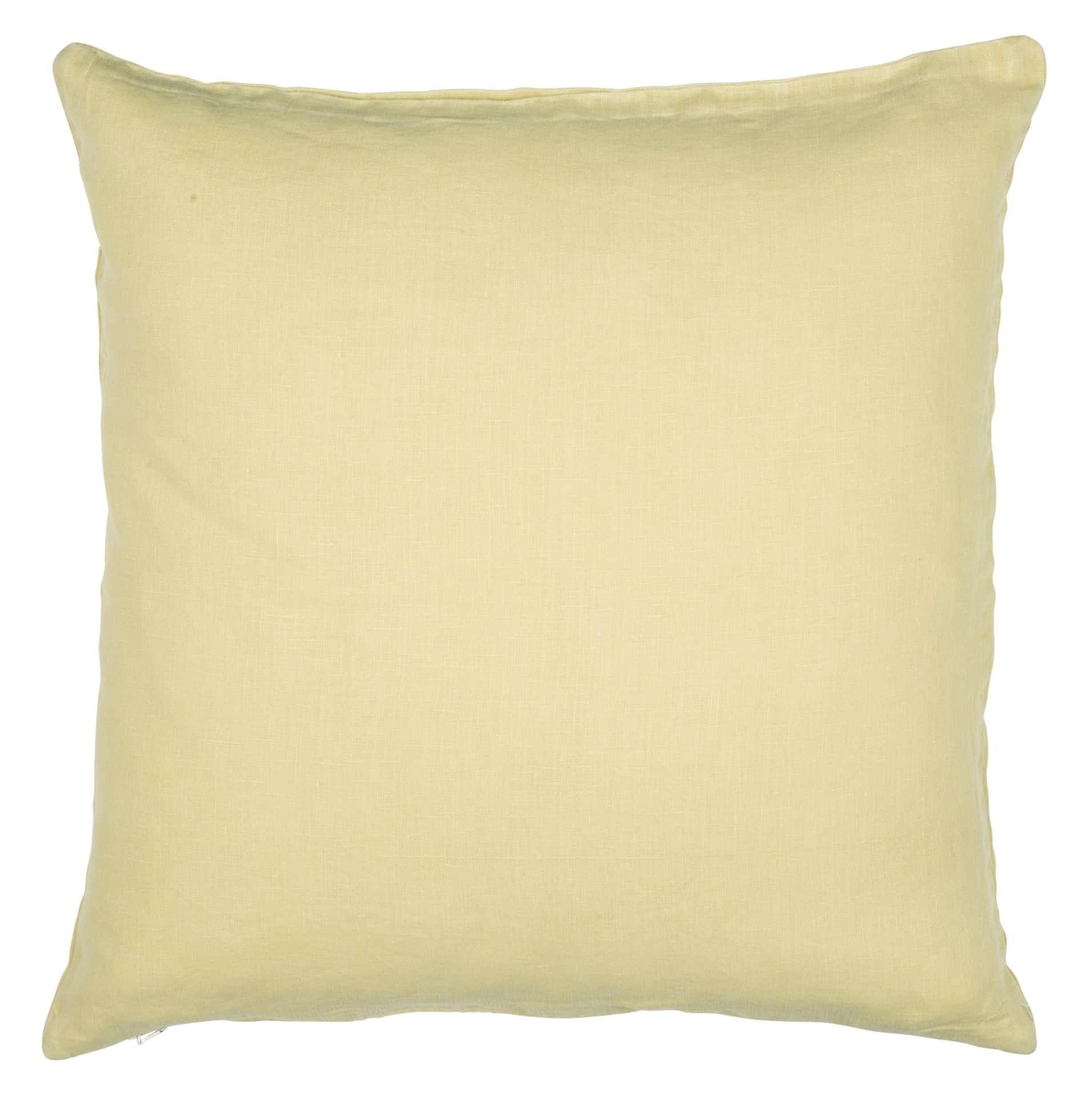 IB LAURSEN Lněný povlak na polštář Yellow 50x50