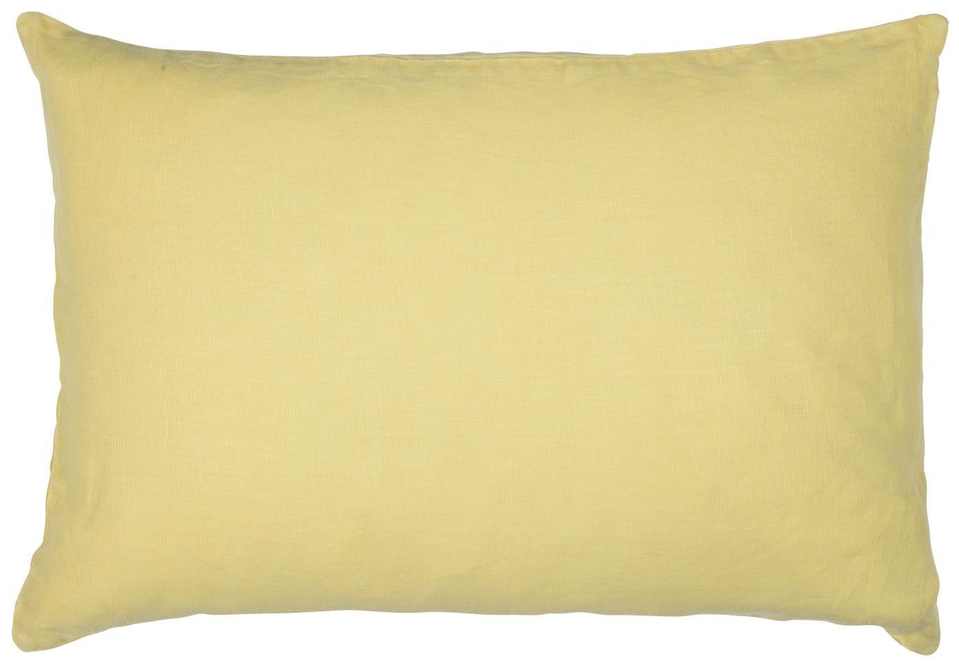 IB LAURSEN Lněný povlak na polštář Yellow 40x60, žlutá barva, textil