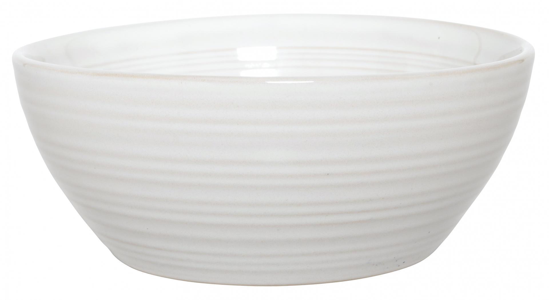 IB LAURSEN Miska Tide white, krémová barva, keramika