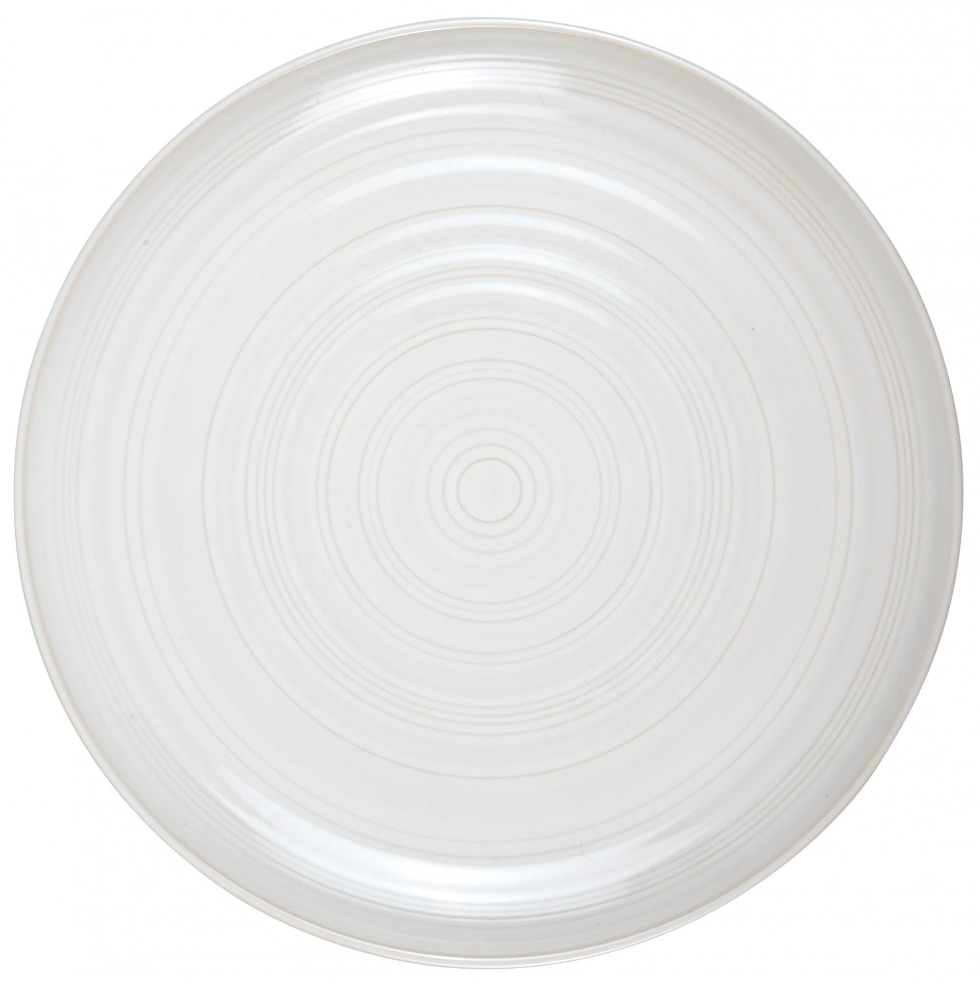 IB LAURSEN Talíř Tide white 27 cm, krémová barva, keramika